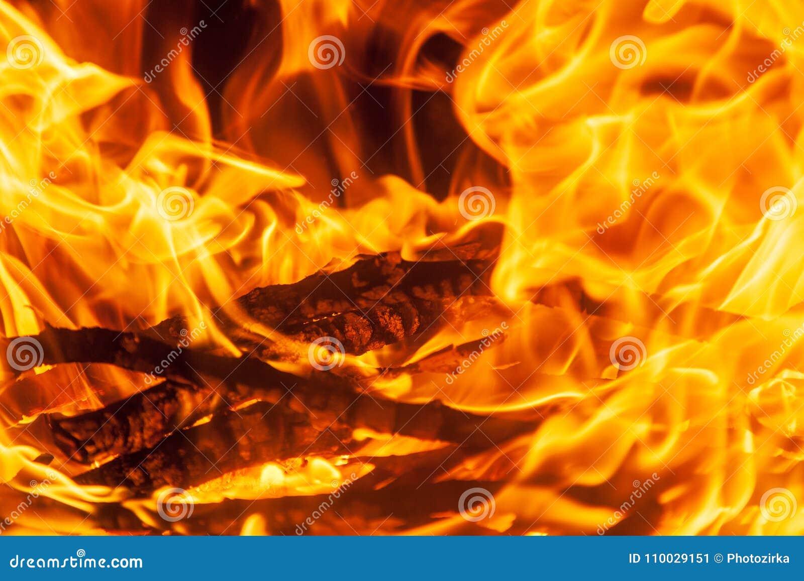 Geschoten van het branden van brandhout in open haard