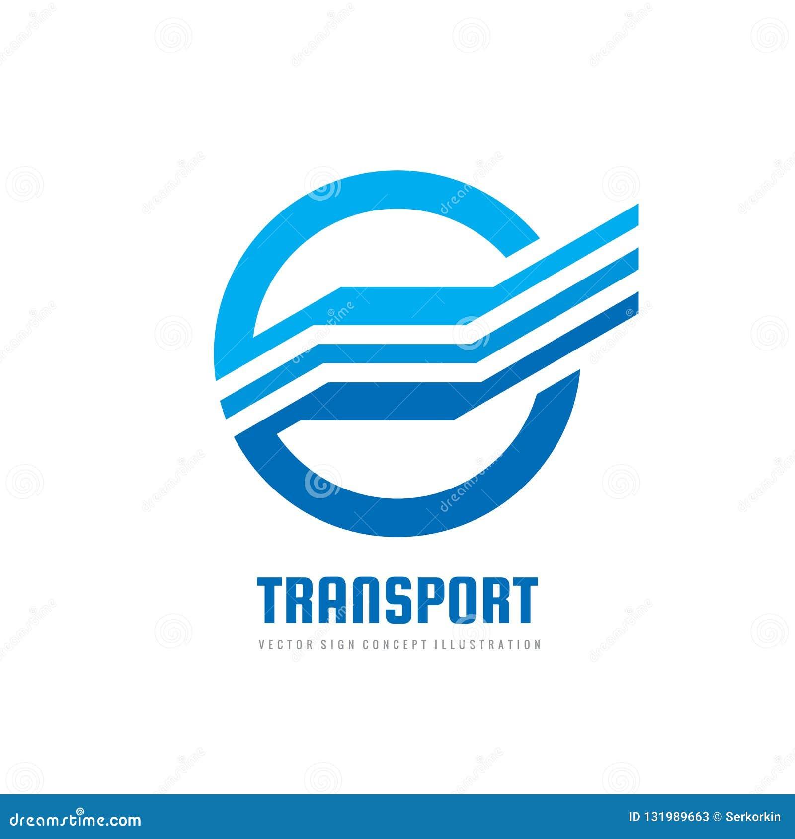 Geschwindigkeitsflügel - vector Logoschablonen-Konzeptillustration in der blauen Farbe Abstrakte Flügelform im kreativen Zeichen