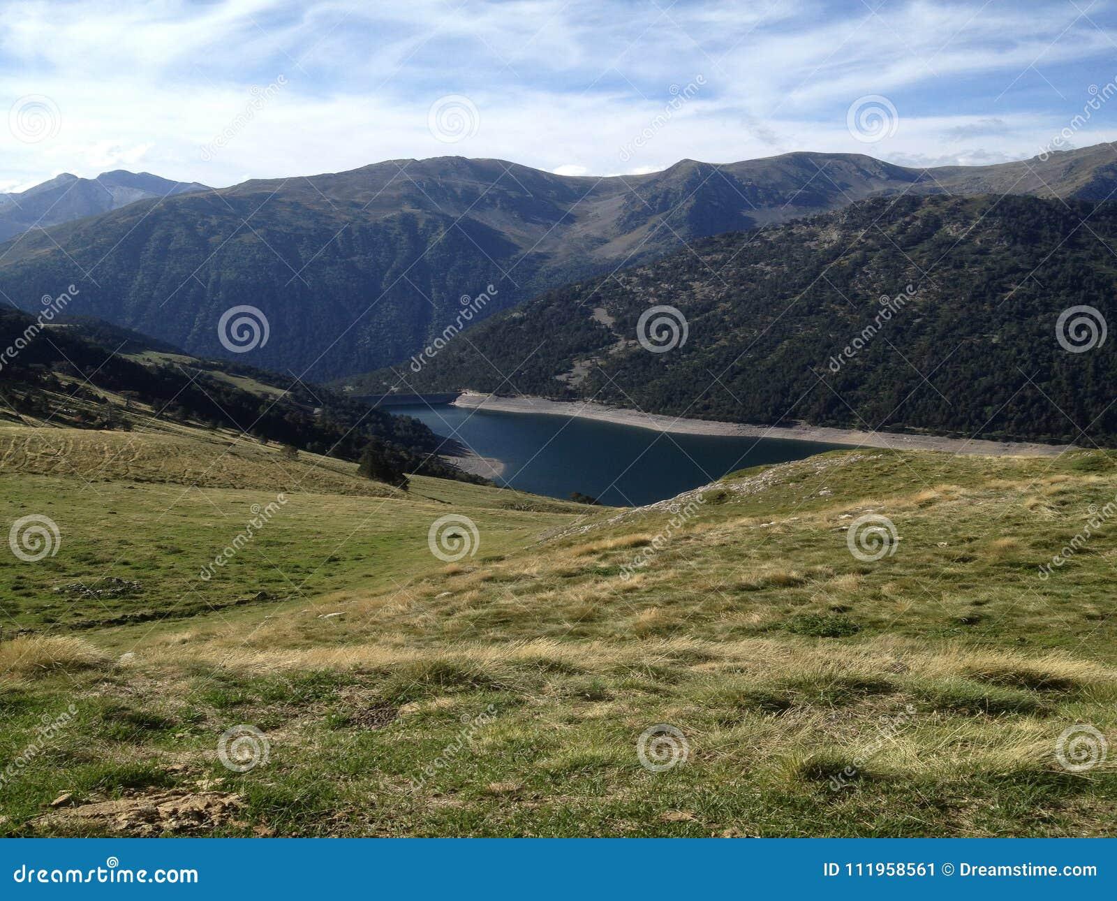 Gesehene Seen Des drei in der Reserve hohen Pyrenäen-neouvielle Frankreich, seine Berge