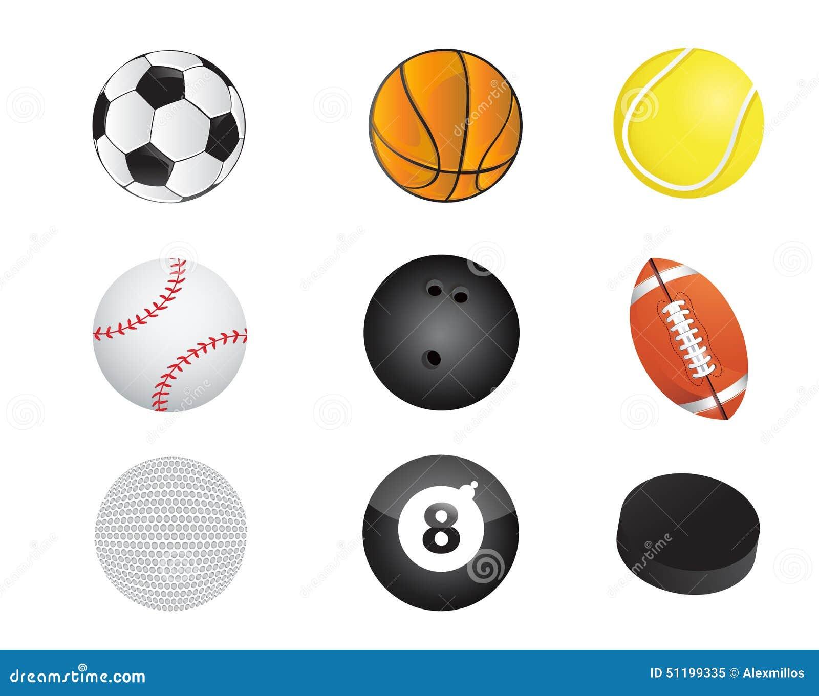Gesetzte Illustration der Sportballausrüstungs-Ikone