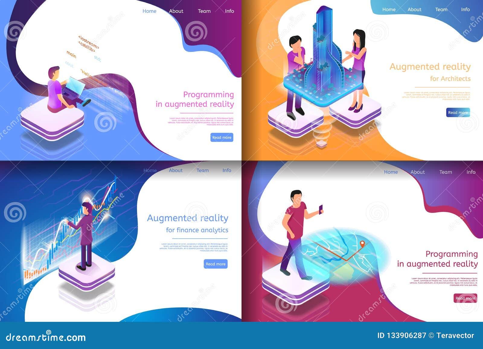 Gesetzte isometrische Illustrations-virtuelle Unterhaltung