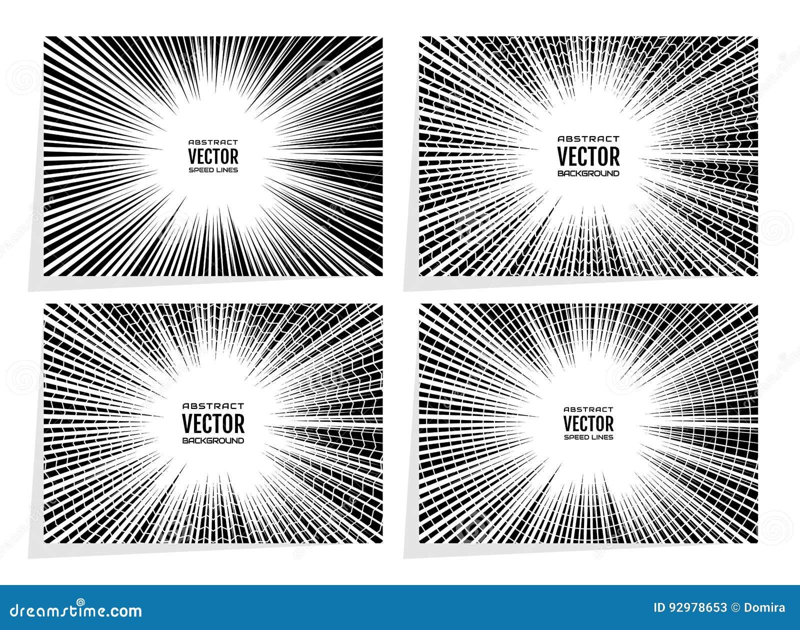 Gesetzte komische Geschwindigkeit zeichnet Radialhintergrund mit Effektenergieexplosion Geometrische Illustration von gelegentlic