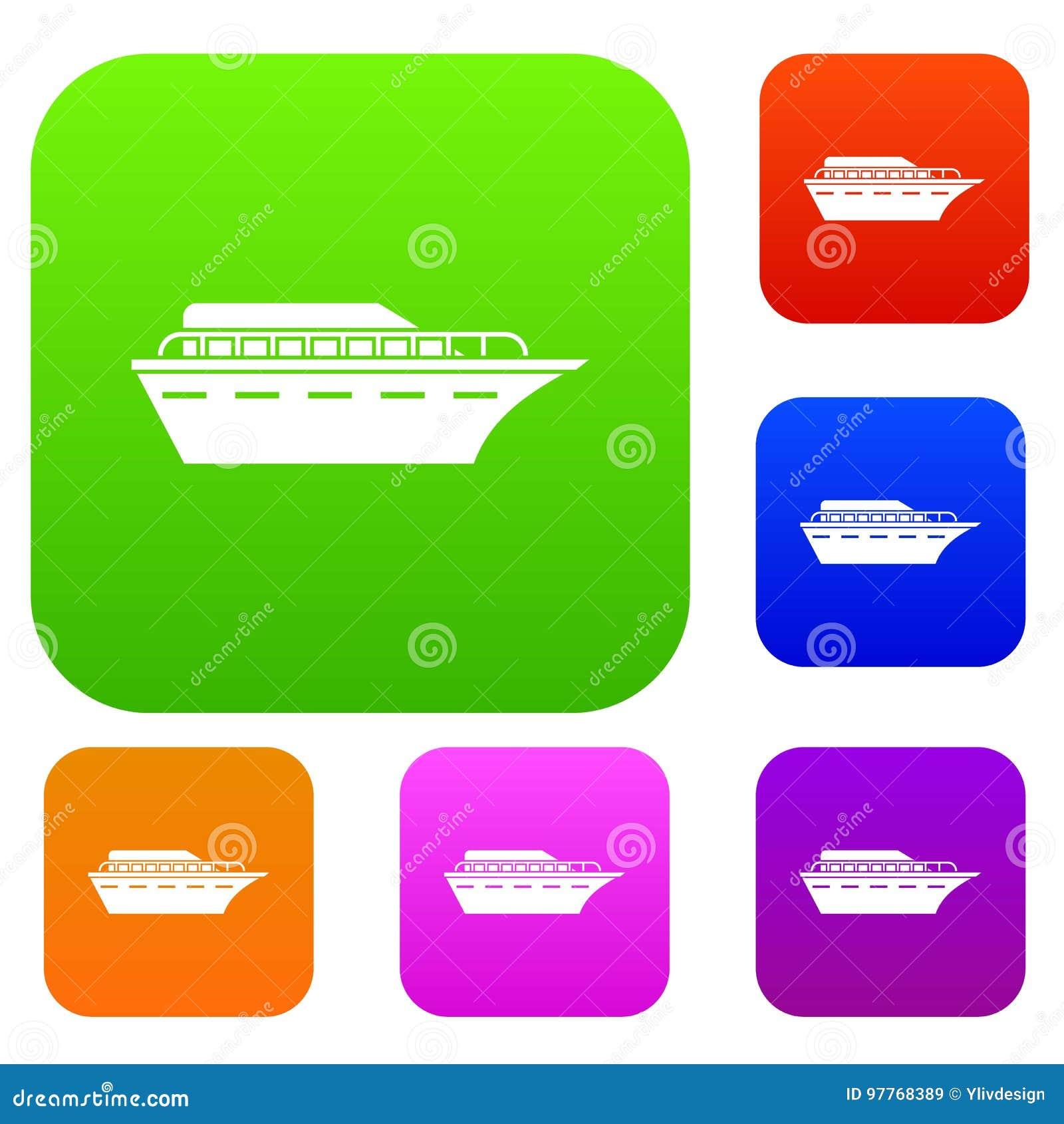Gesetzte Sammlung des Motorboots