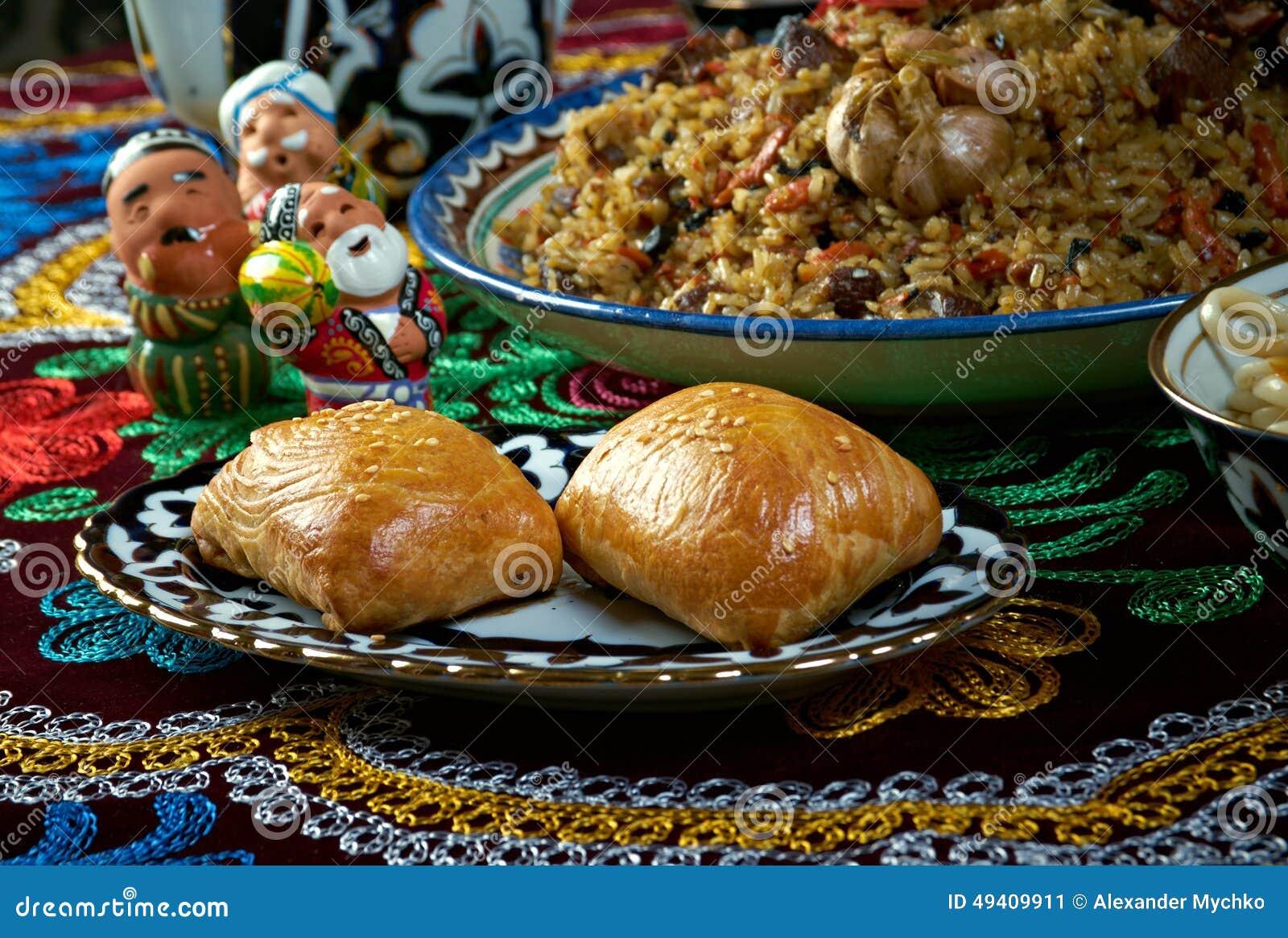 Download Gesetzte Zentrale Asiatische Küche Des Lebensmittels Stockbild - Bild von essen, lamm: 49409911