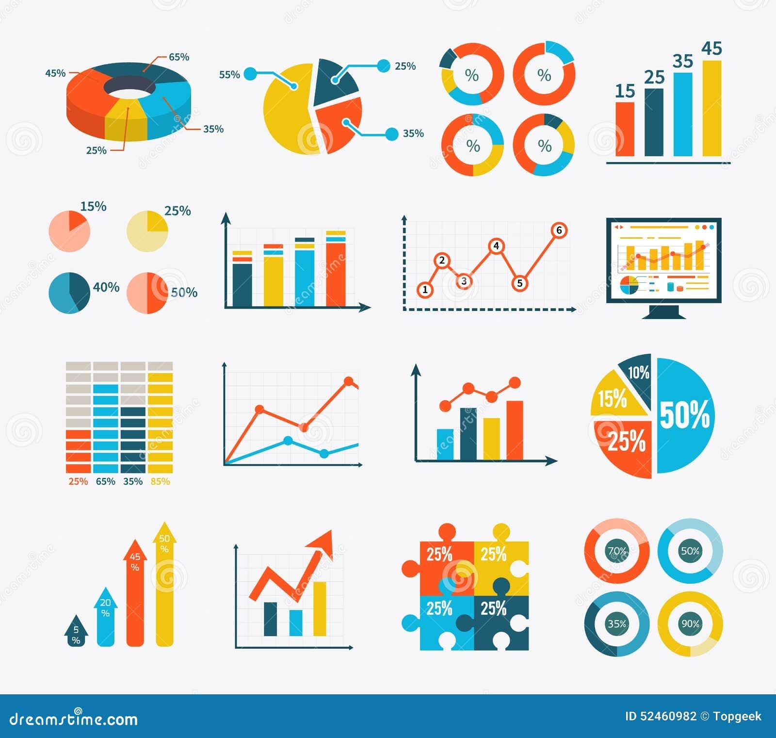 Gesetztes Diagramm Infographic und Diagramme, Diagramme