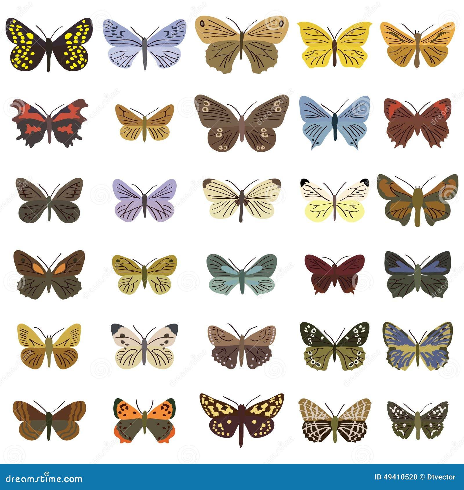 Download Gesetztes Kleines Des Schmetterlinges Vektor Abbildung - Illustration von basisrecheneinheit, nett: 49410520
