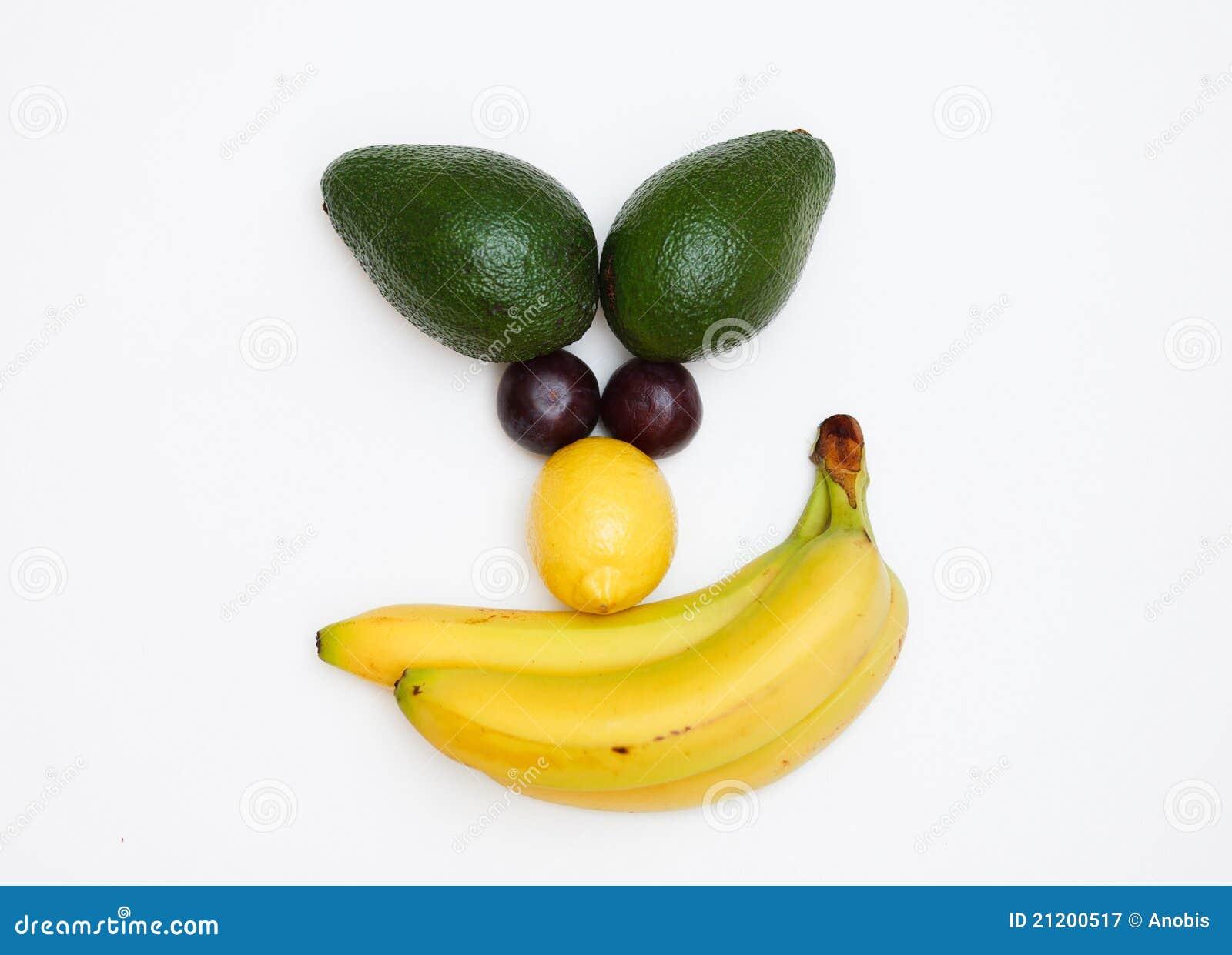 Gesicht gebildet von den Früchten