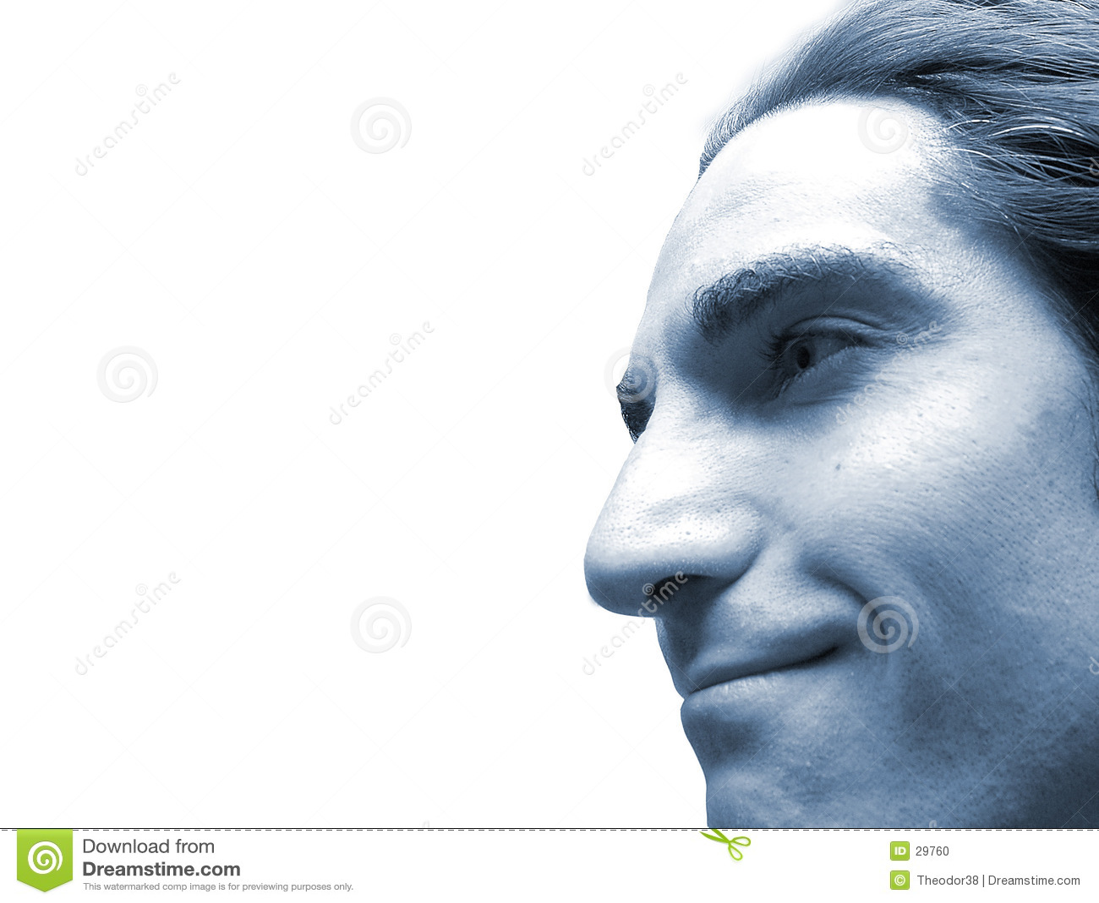 Gesicht im Blau