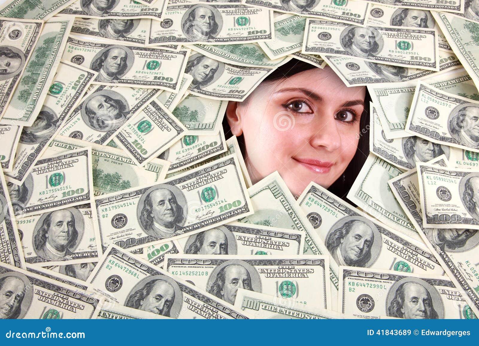 Gesicht im Geld
