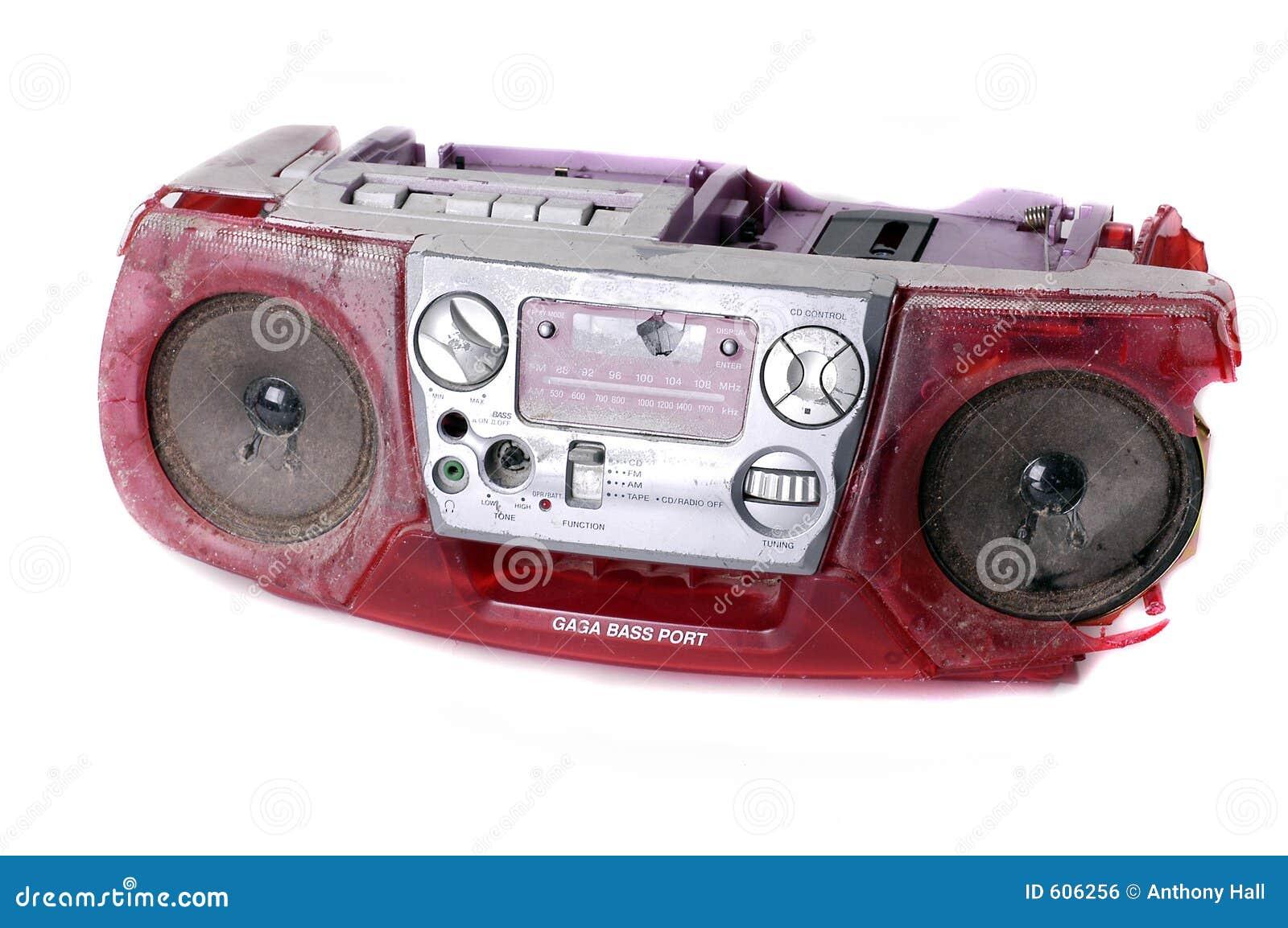 Geslagen Grunge boombox