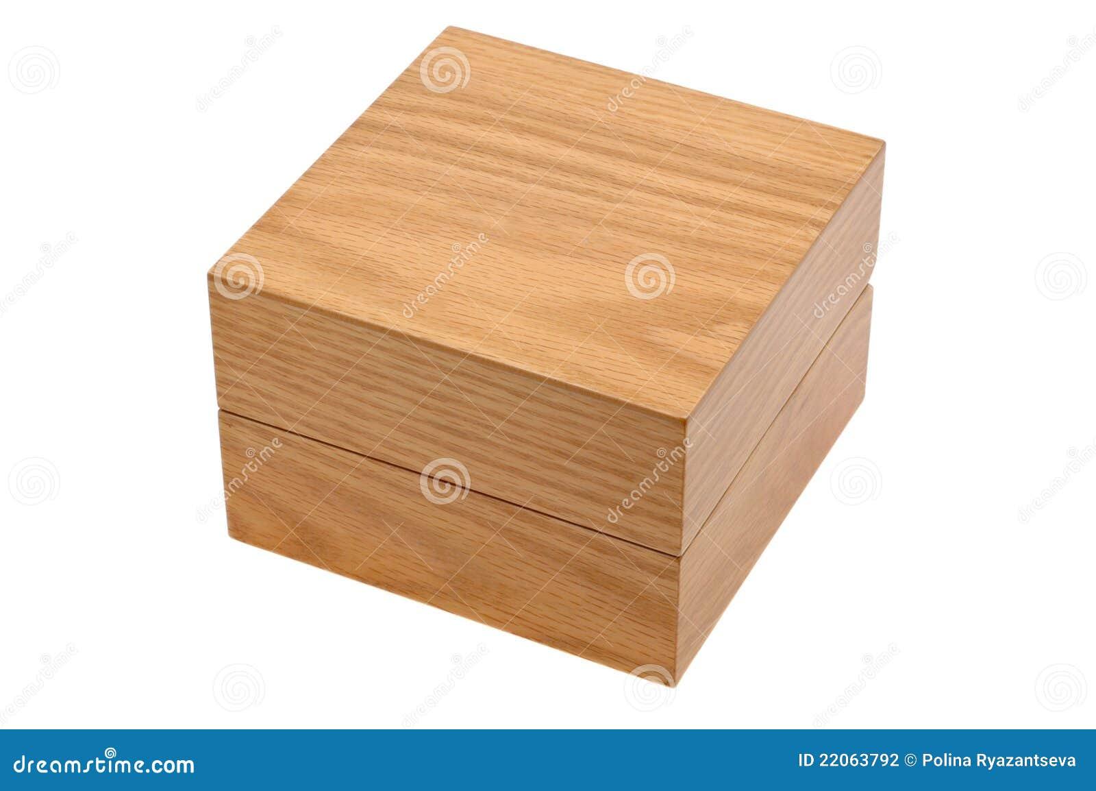 Gesloten houten vierkante doos stock fotografie afbeelding 22063792 - Houten doos op wielen ...