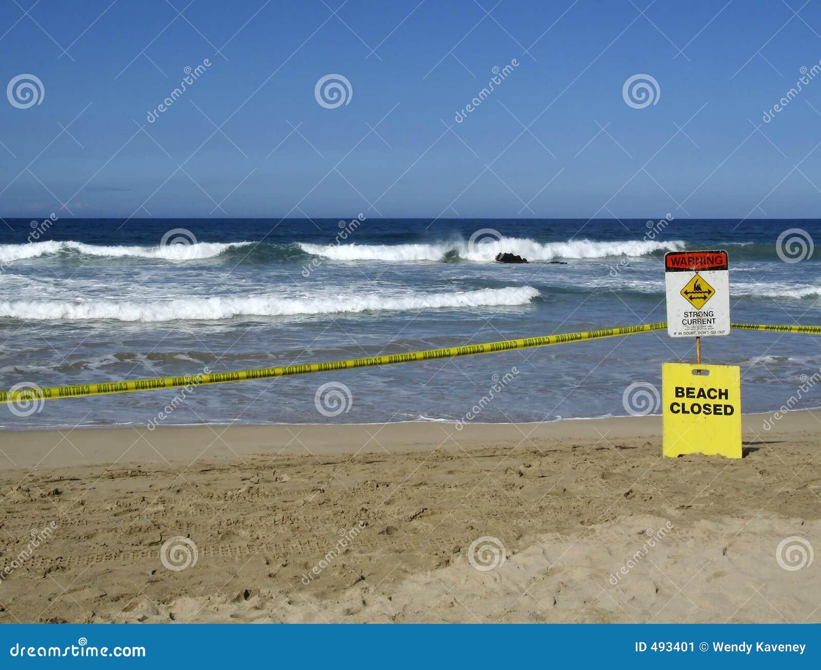 Gesloten strand