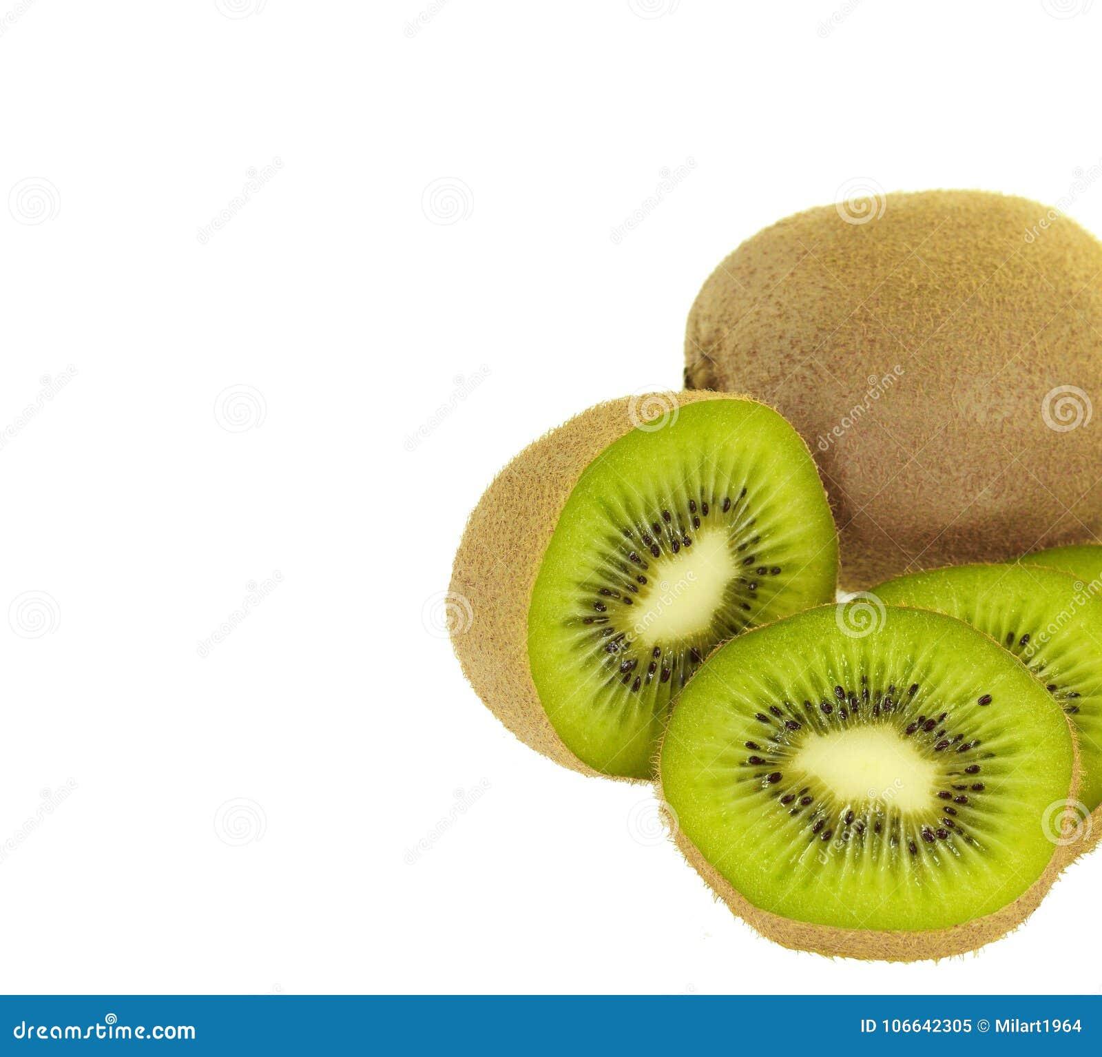 Gesneden die kalkfruit op witte achtergrond wordt geïsoleerd