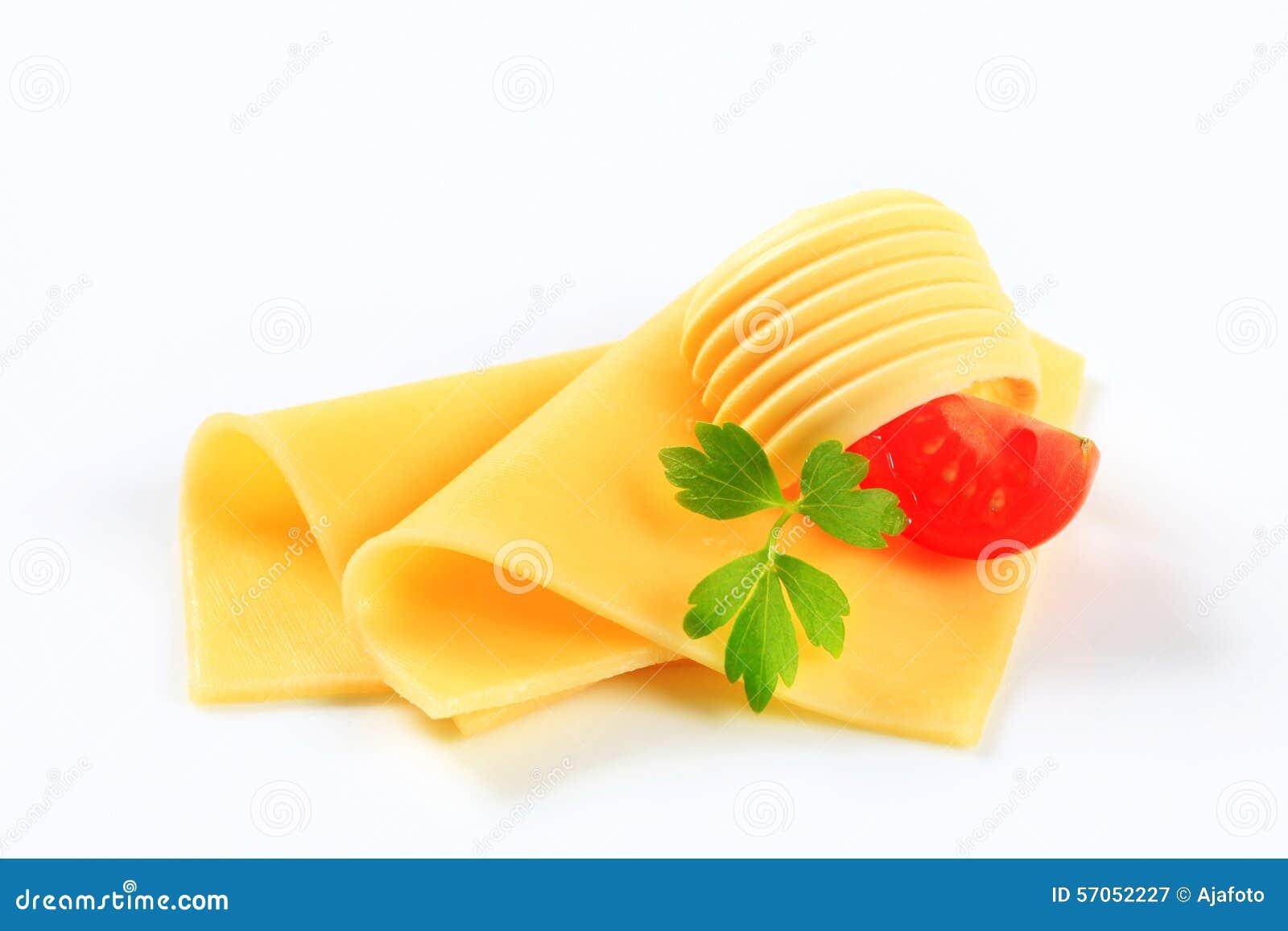 Gesneden kaas en boter