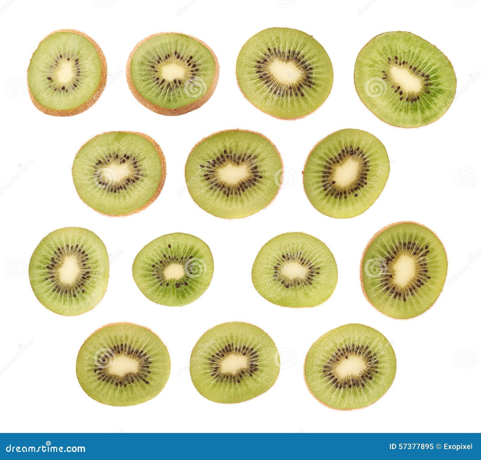 Gesneden kiwifruit geïsoleerde sectie