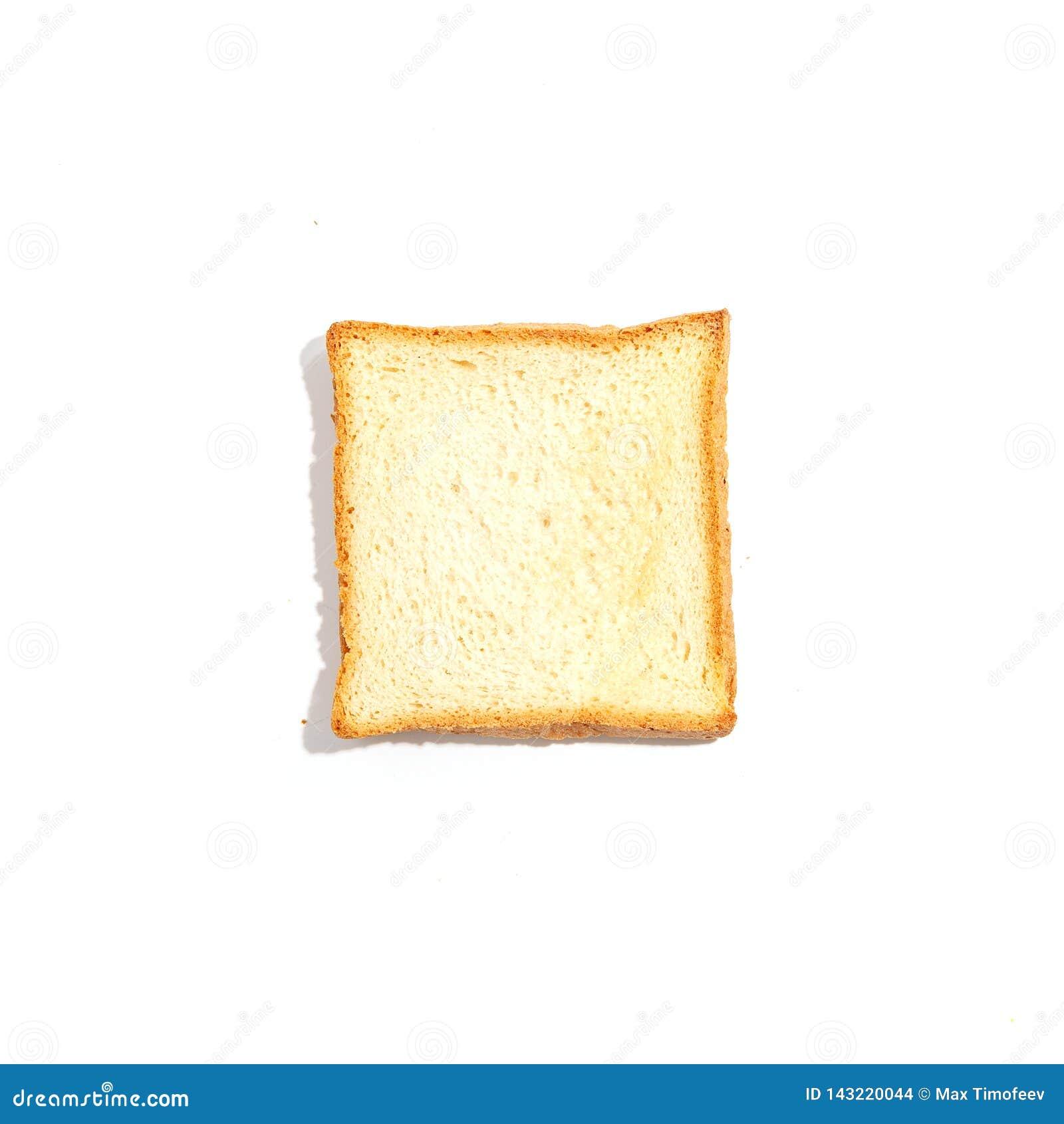 Gesneden toostbrood dat op witte achtergrond wordt geïsoleerd Hoogste mening