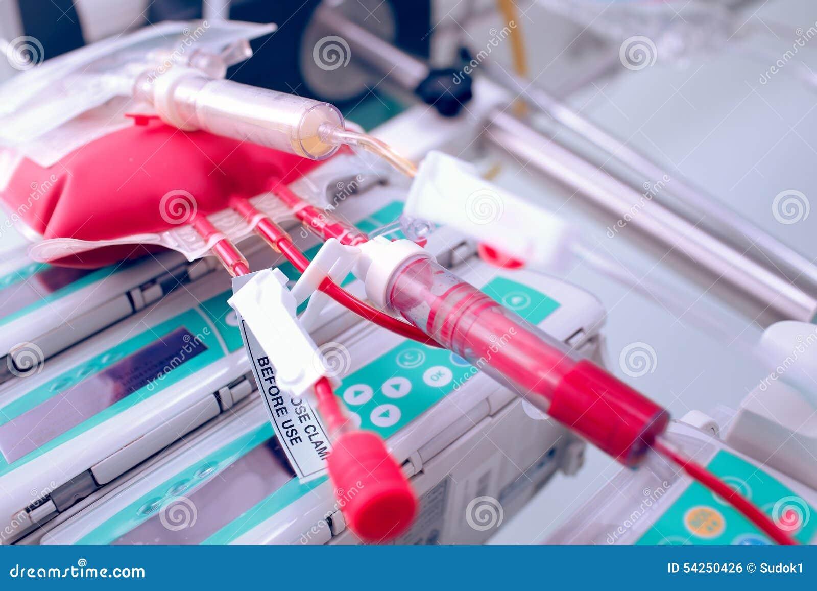 Gespendete Bluttransfusionen für kritisch kranke Patienten