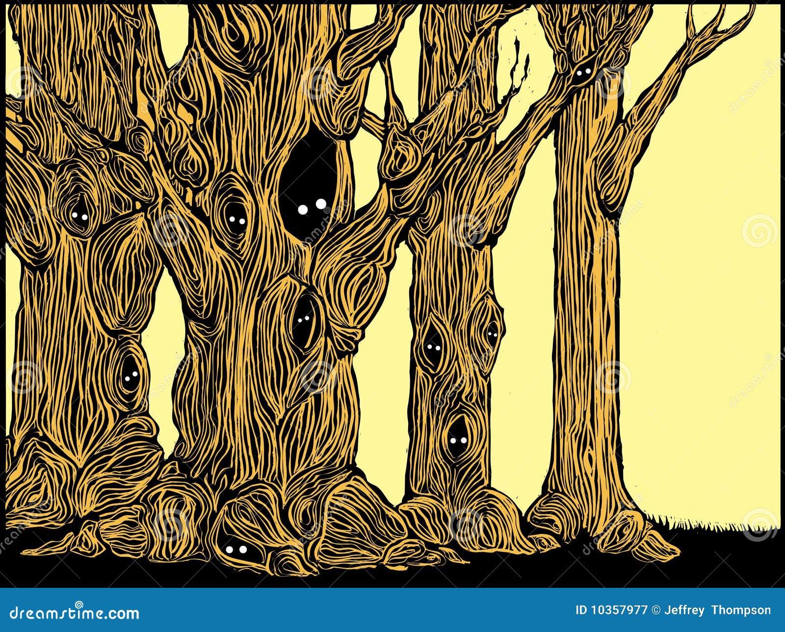 Gespenstische Bäume