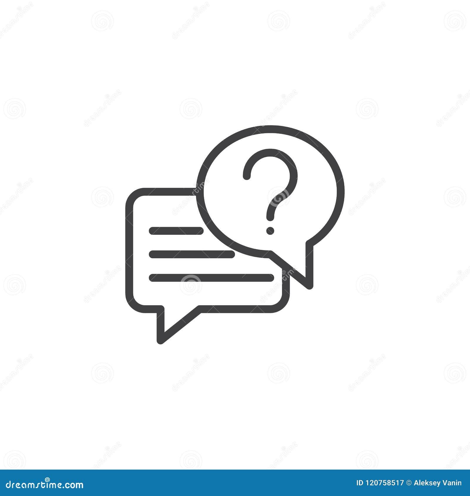 Gesprächschat-Entwurfsikone