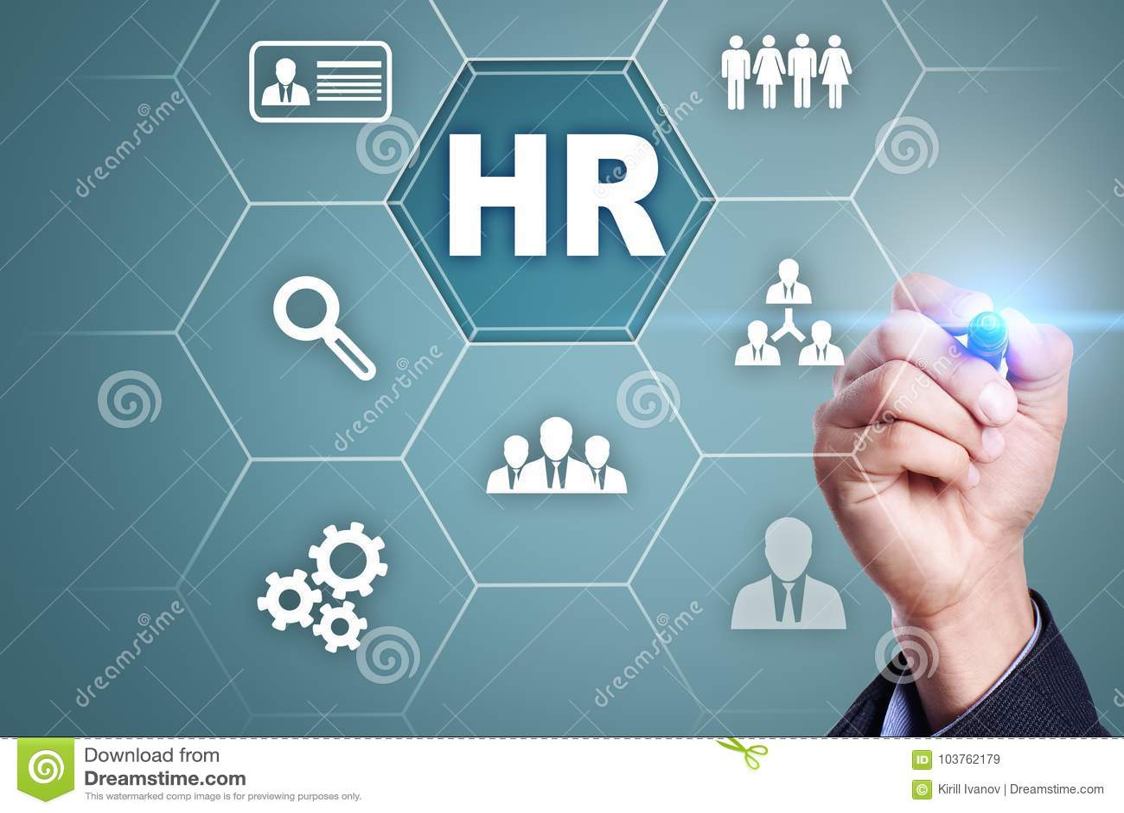 Gestão de recursos humanos, hora, recrutamento, liderança e teambuilding