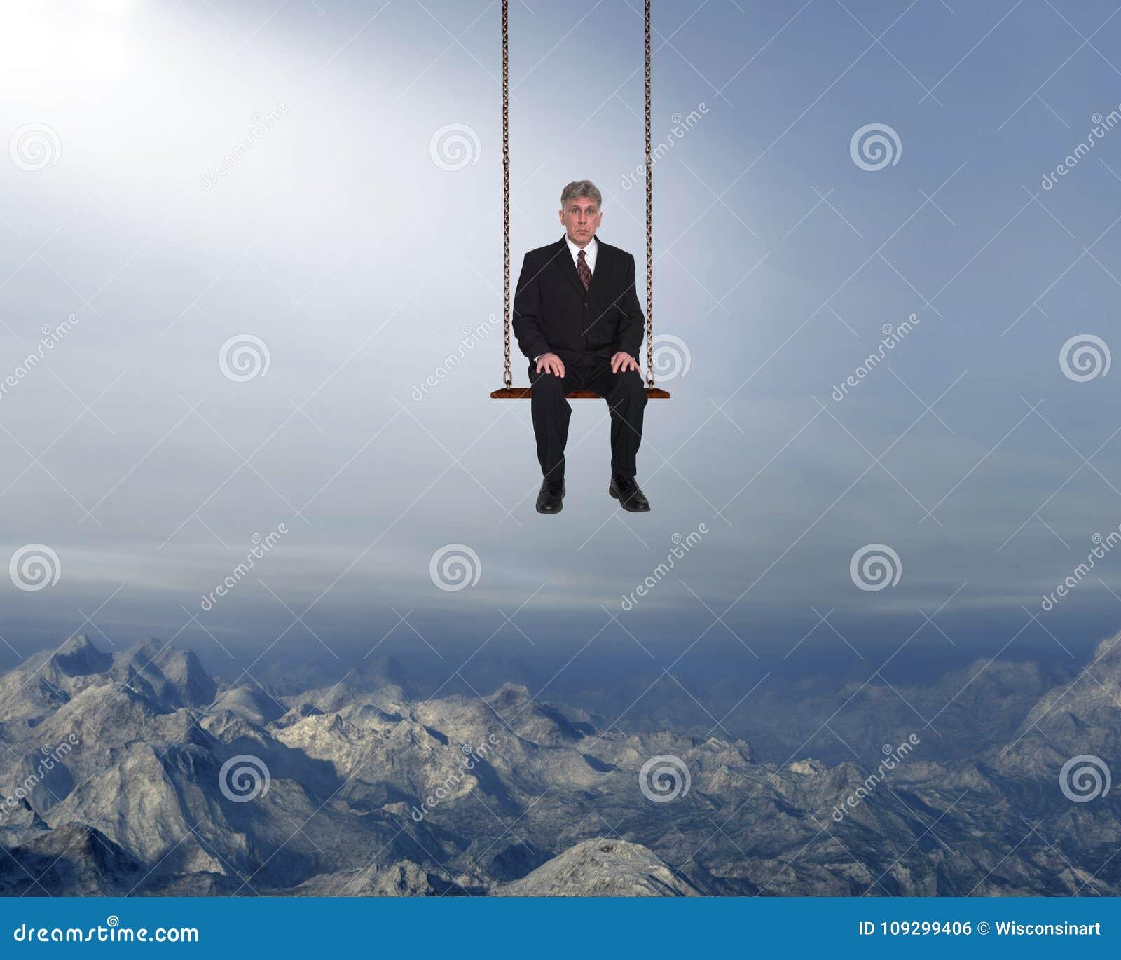 Gestão de riscos, negócio, vendas, mercado, homem de negócios surreal