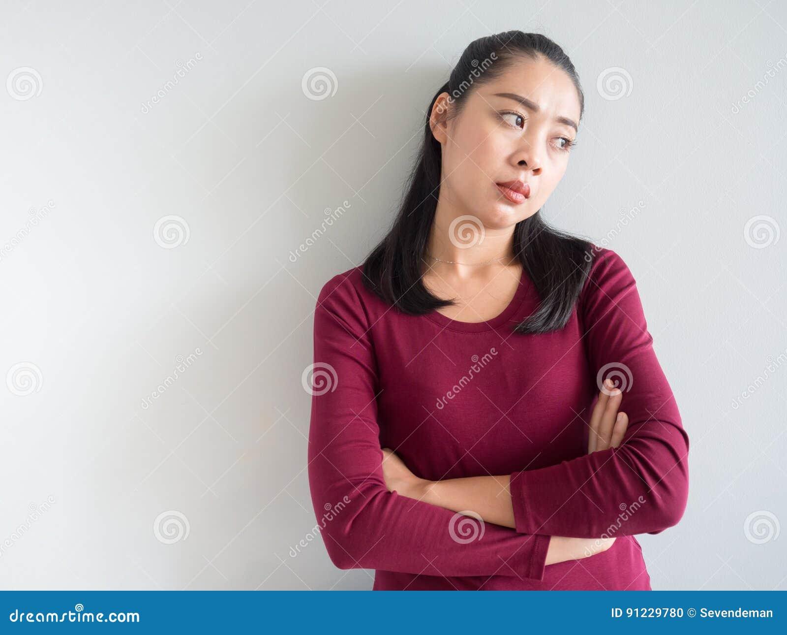 Gestörte und unglückliche Frau