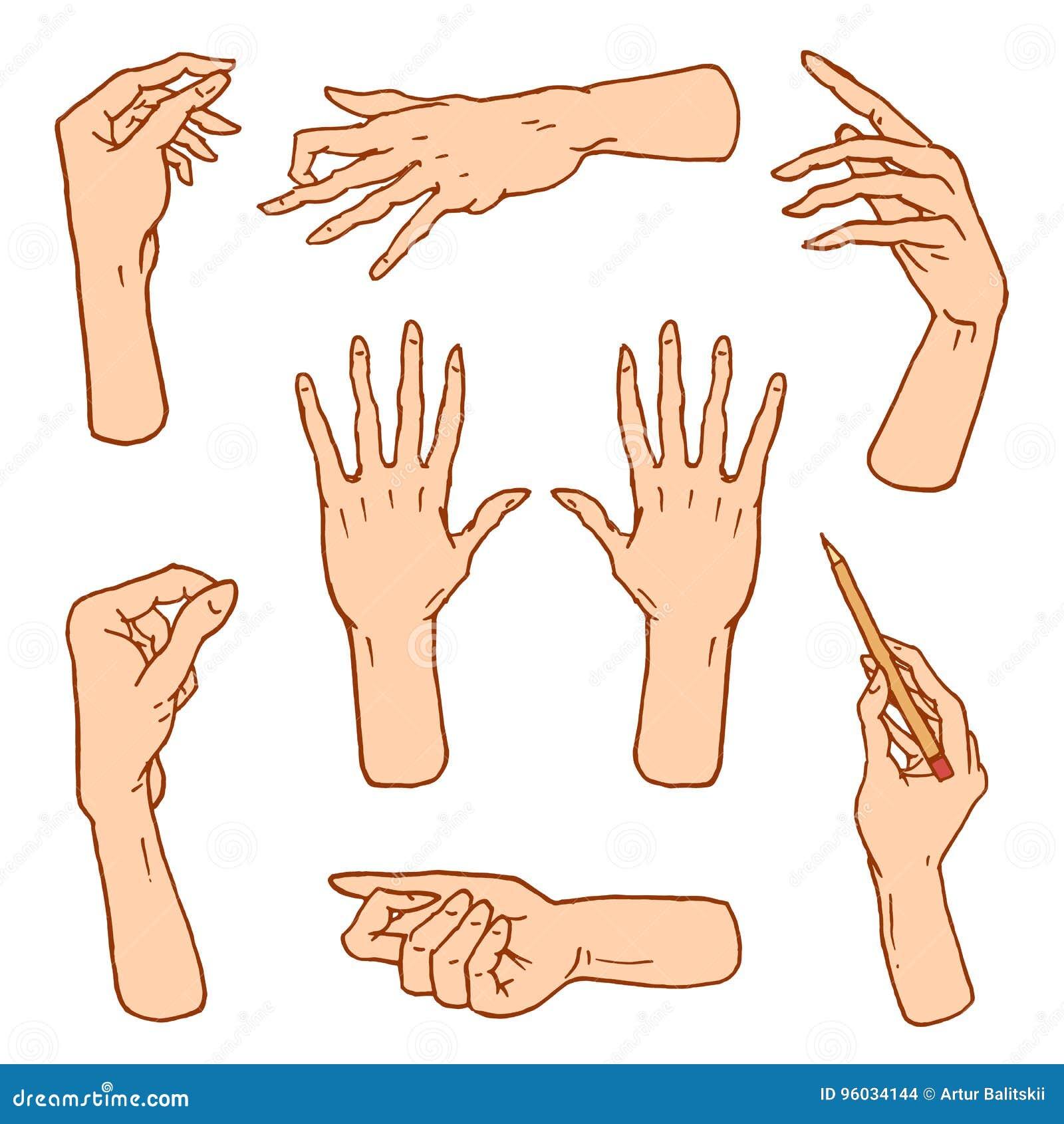 Gest ręki zatrzymują, dotykają pointeru i one modlą się, palma, aprobaty, ok, jak lub uścisk dłoni, pięść, pokój i skały n rolka,