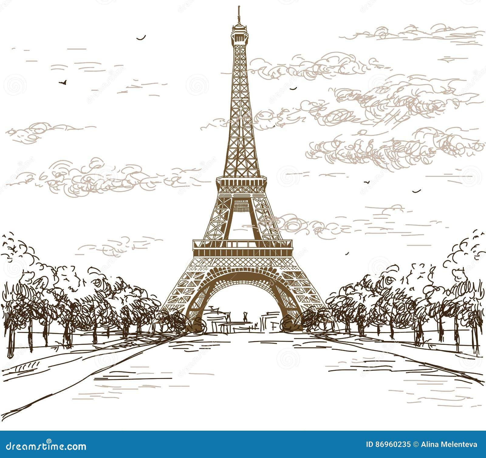 Nett Eiffelturm Malvorlagen Für Kinder Zeitgenössisch - Druckbare ...