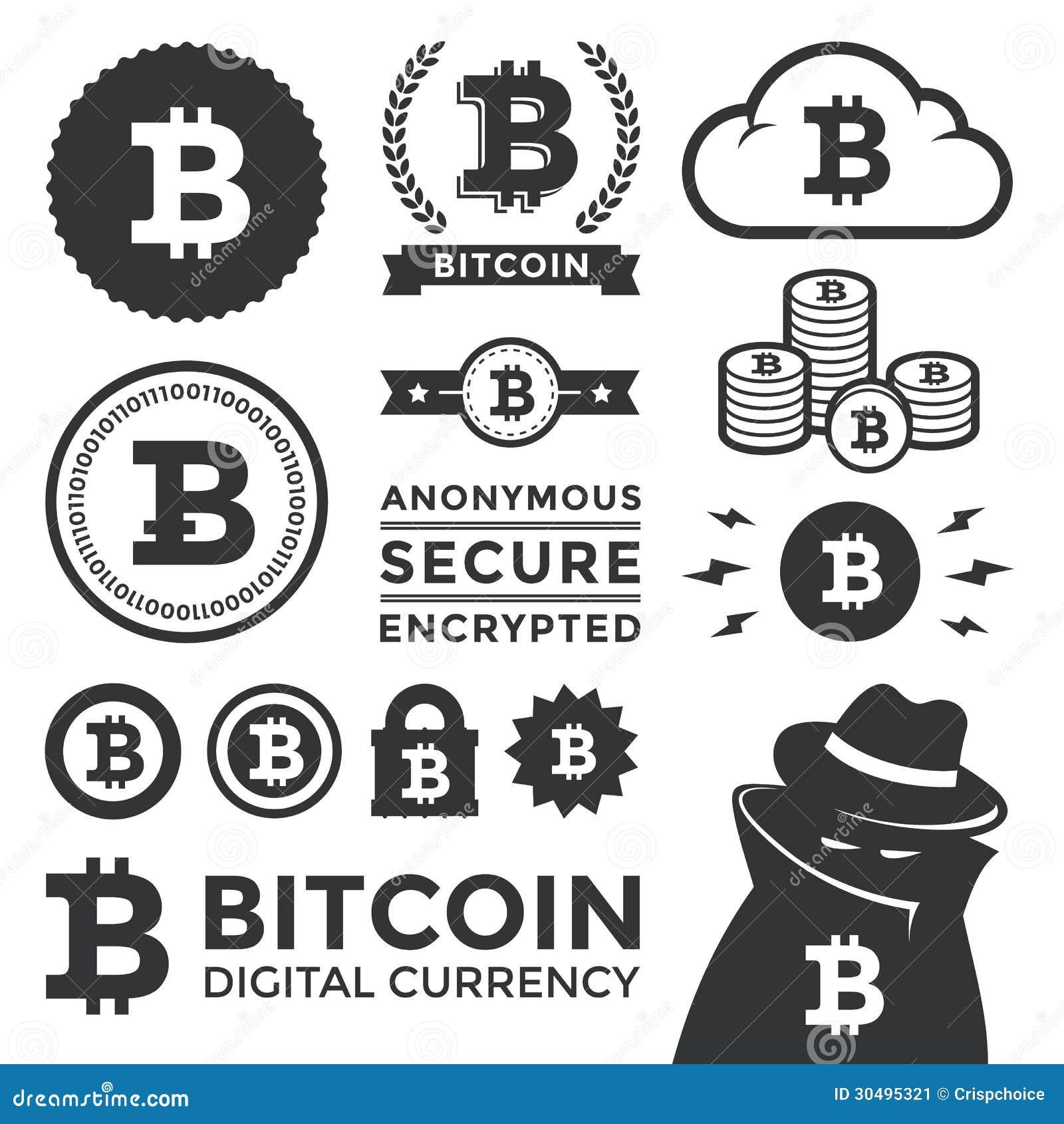 Gestaltungselemente und Aufkleber Bitcoin