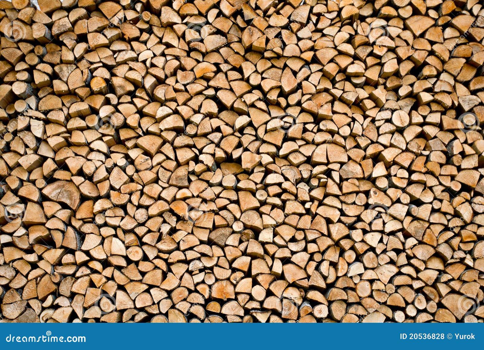 Gestapeld brandhout