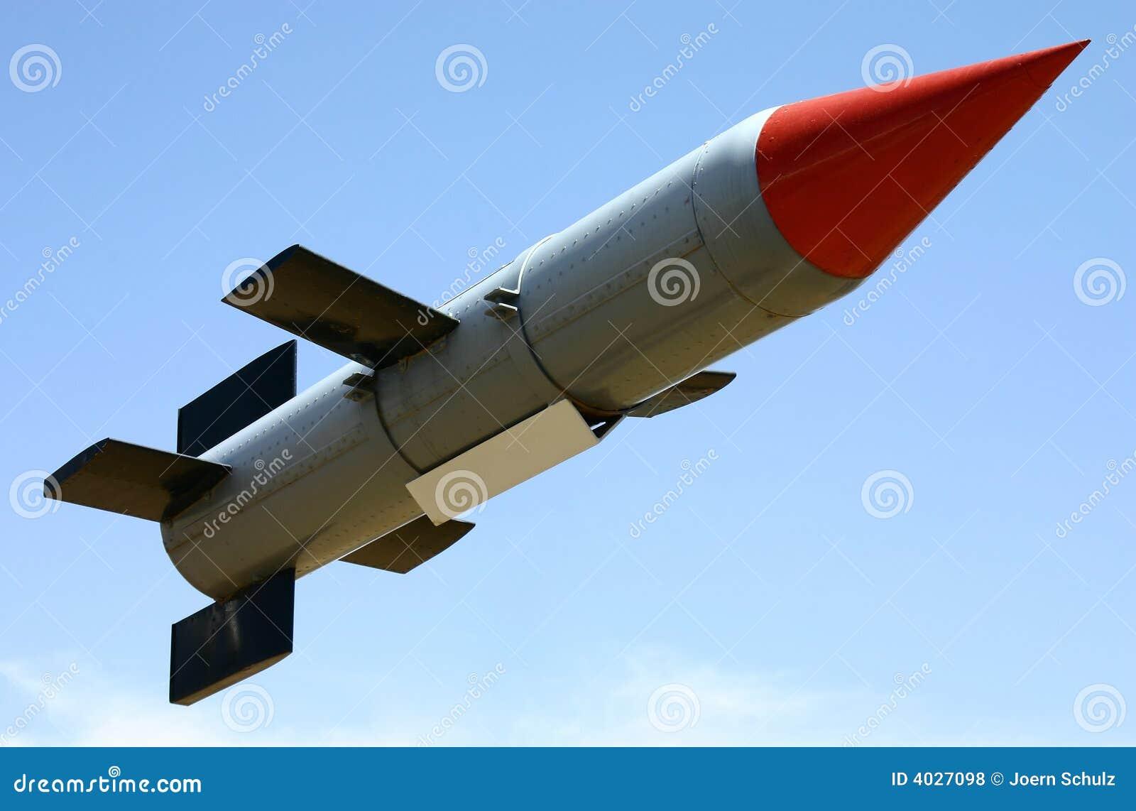 Gestartete Rakete