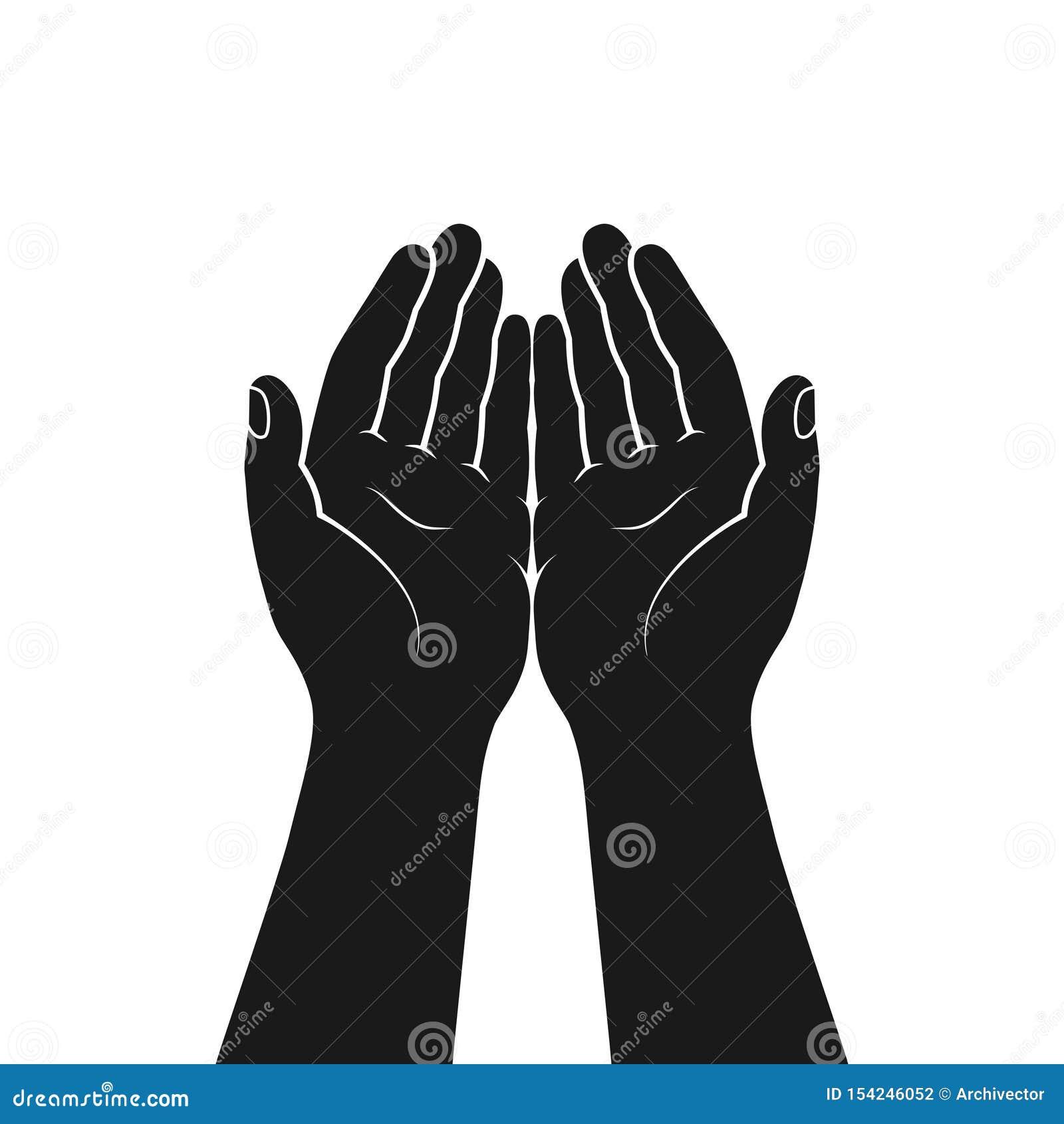 Geste der Hände gefaltet im Gebet
