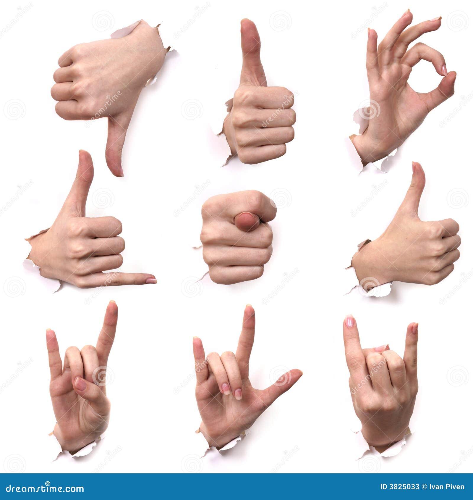 Gesten Der Hände Stockfotos - Bild: 3825033
