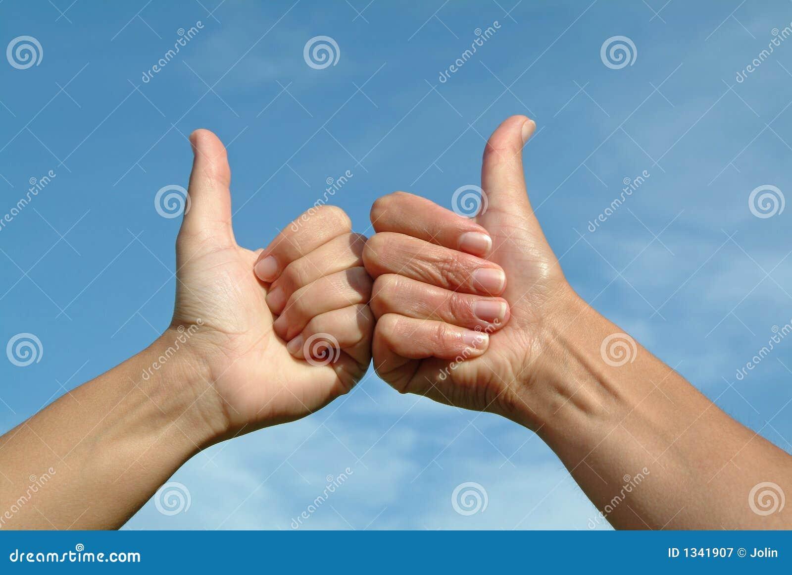 Gesten hands den ok positiven