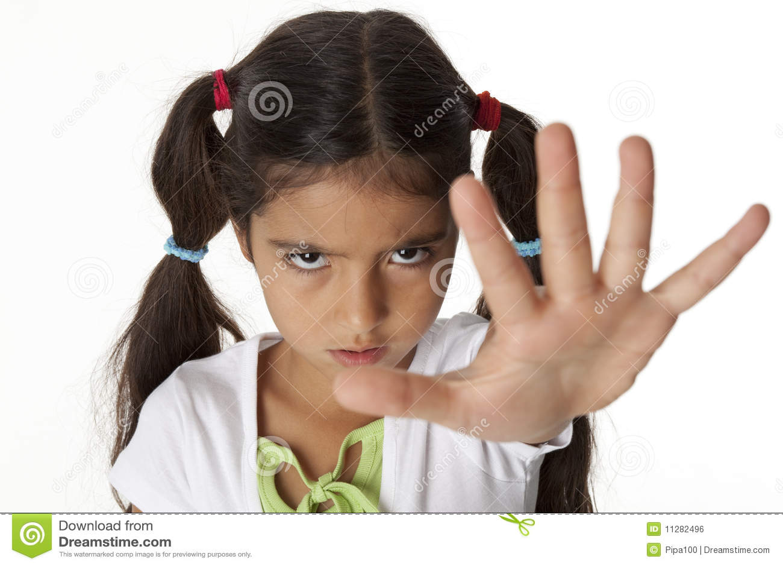 Gestflickan hand henne som little gör stoppet