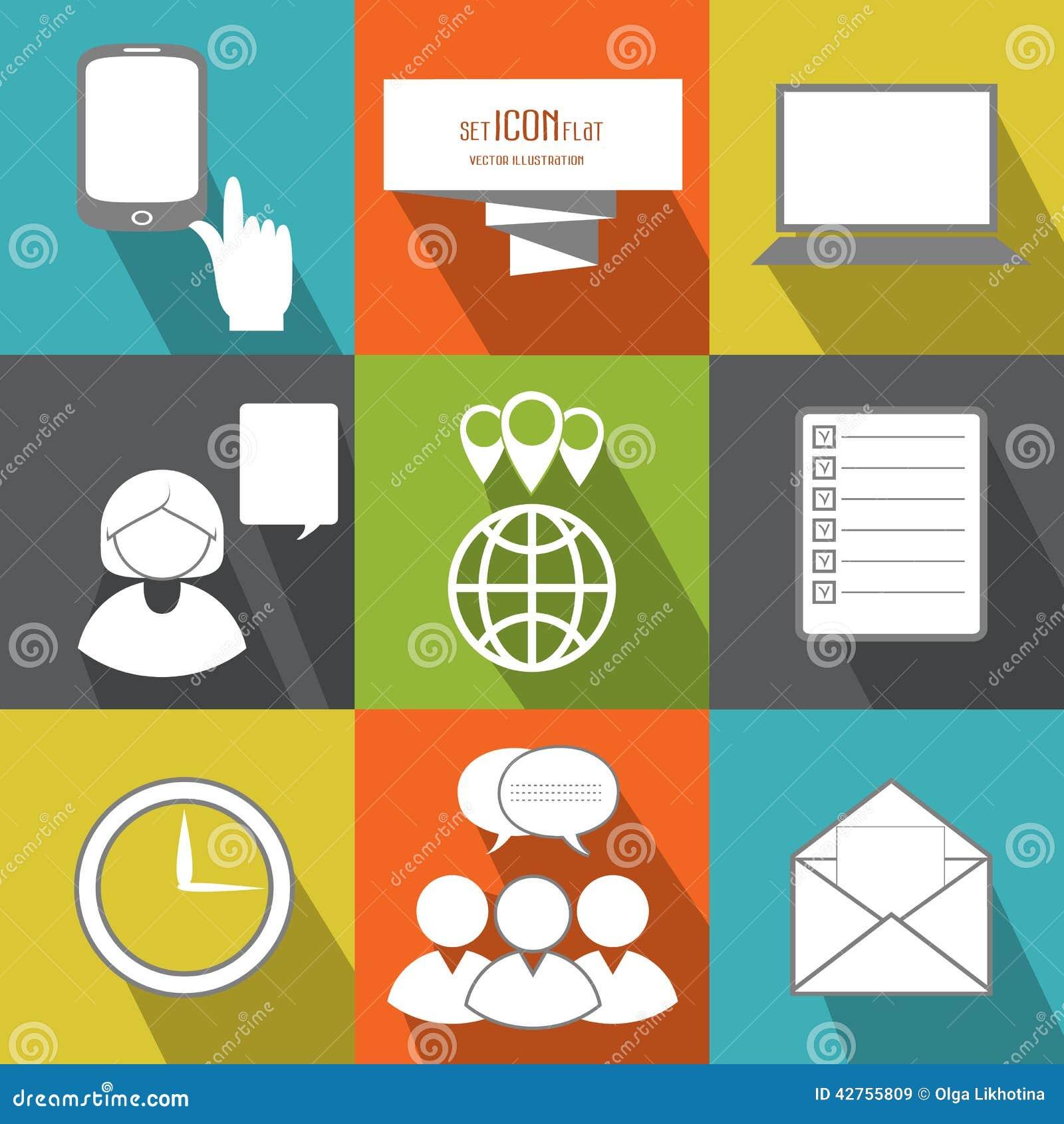 Gestión, personas del negocio y gente de la oficina Icono plano del vector