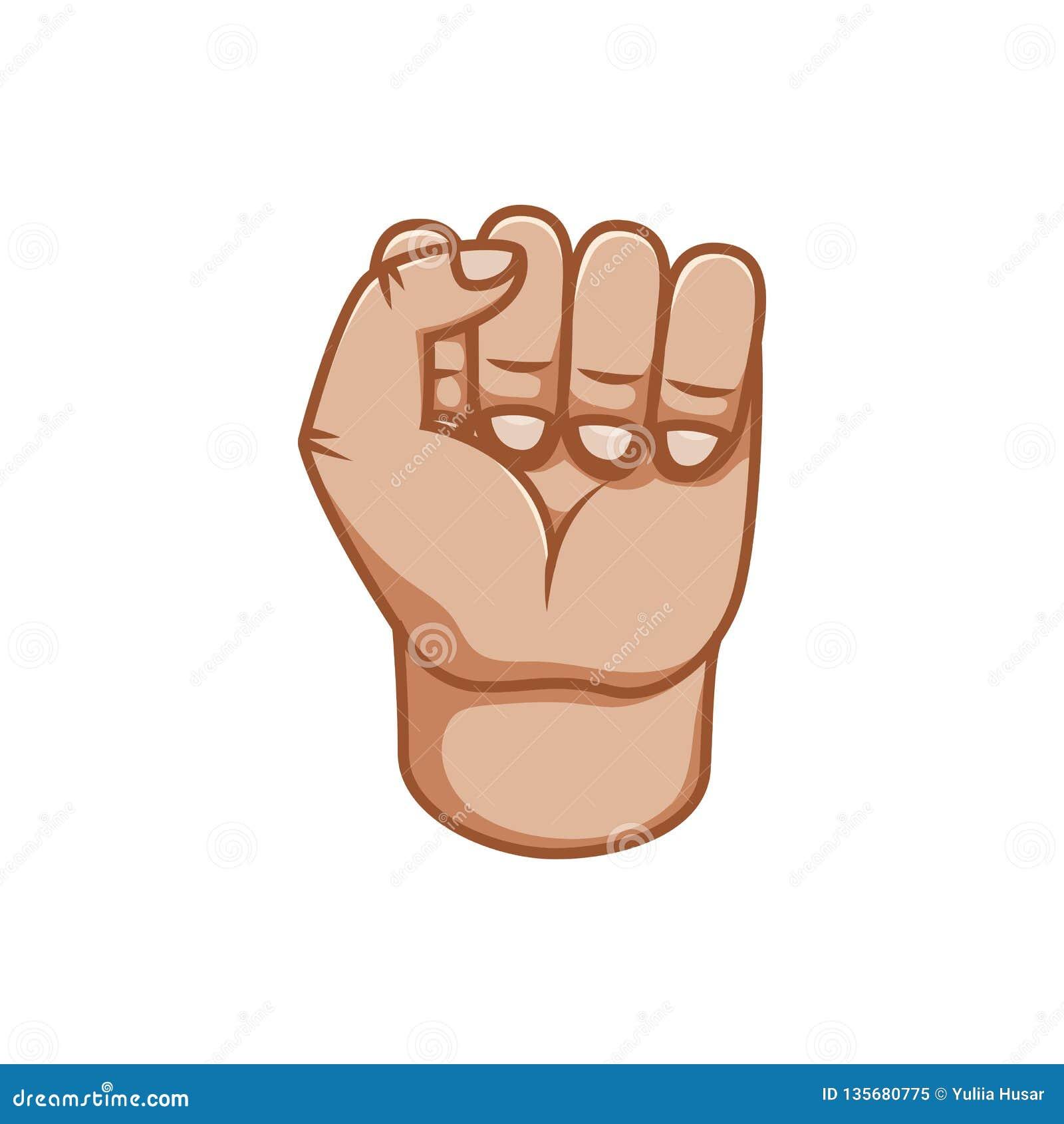 Gesti di mano, grande progettazione per qualsiasi scopi Maschio del pugno Linea icona di gesto Gesti umani di vettore Priorità ba