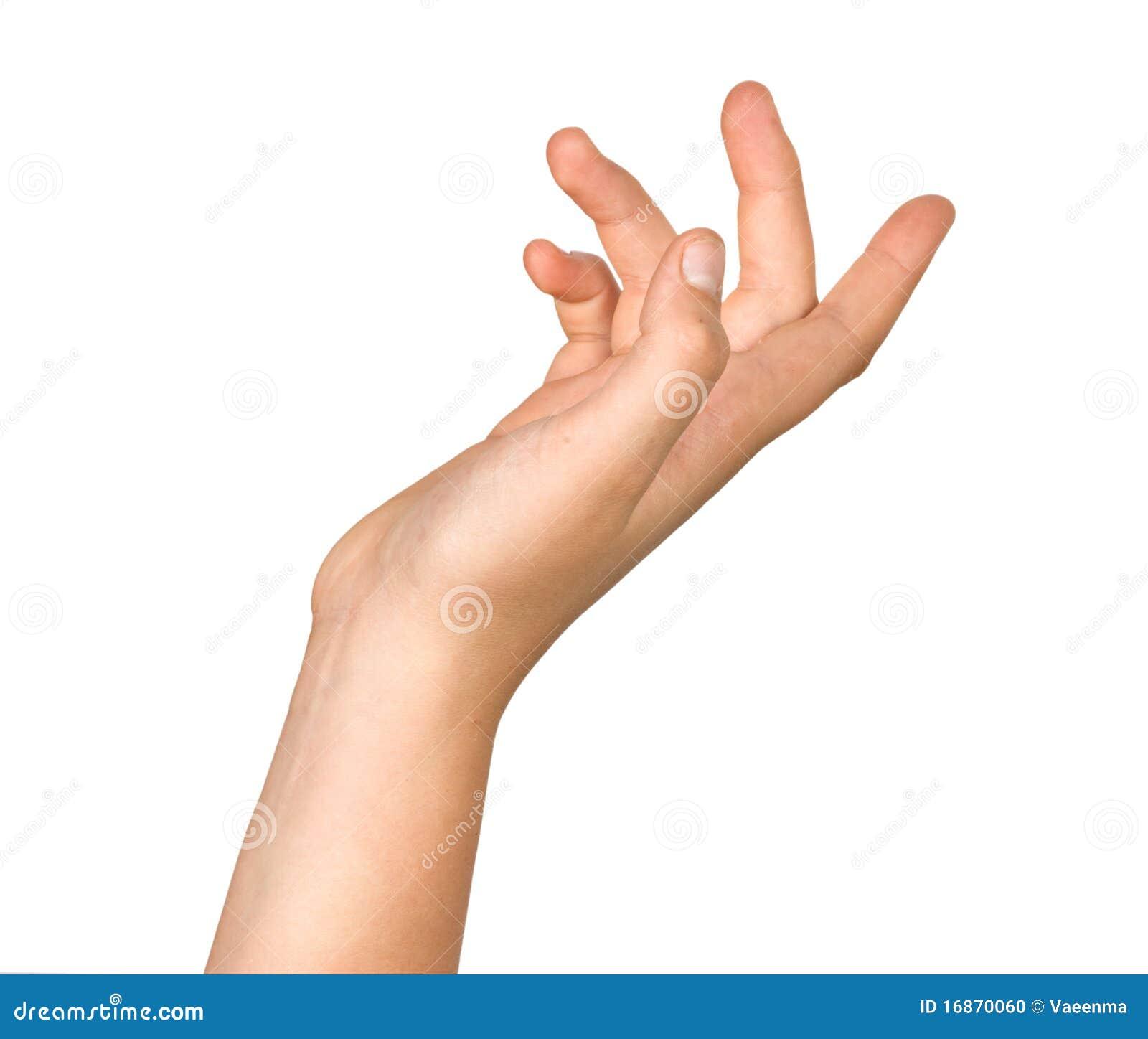 Gesticulando a mão