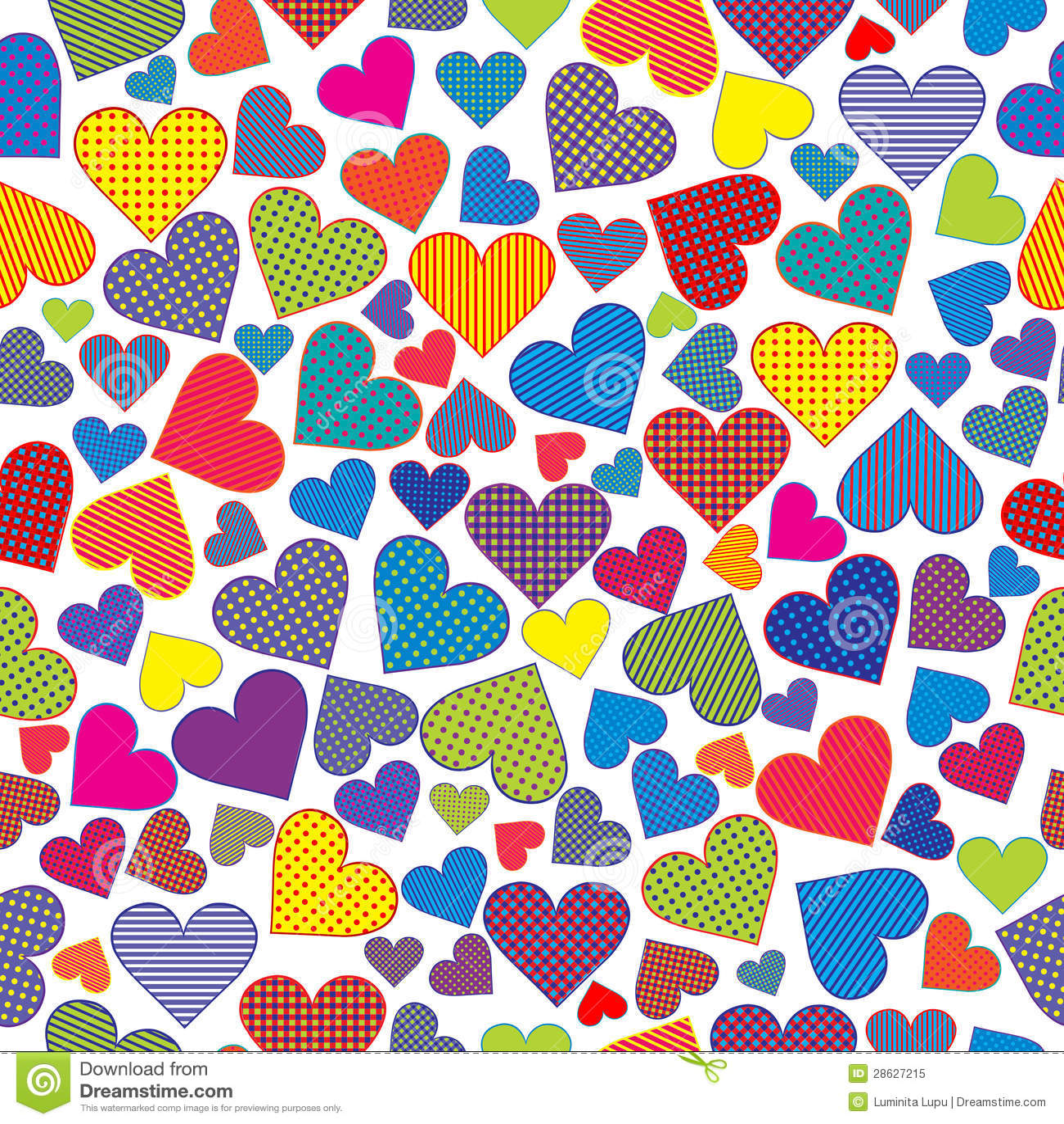 Gestileerd harten naadloos patroon als achtergrond
