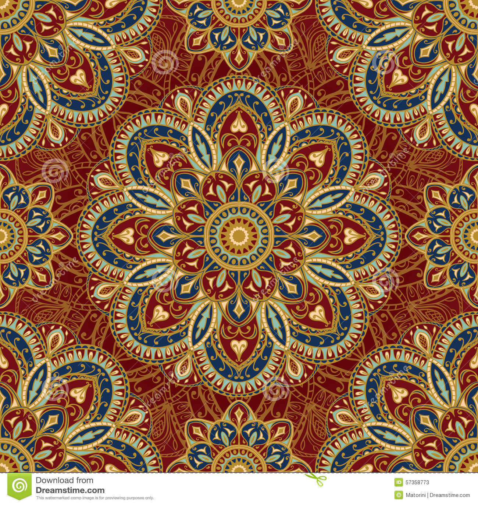 Gestileerd oosters middeleeuws patroon vector illustratie afbeelding 57358773 - Oosters stof ...