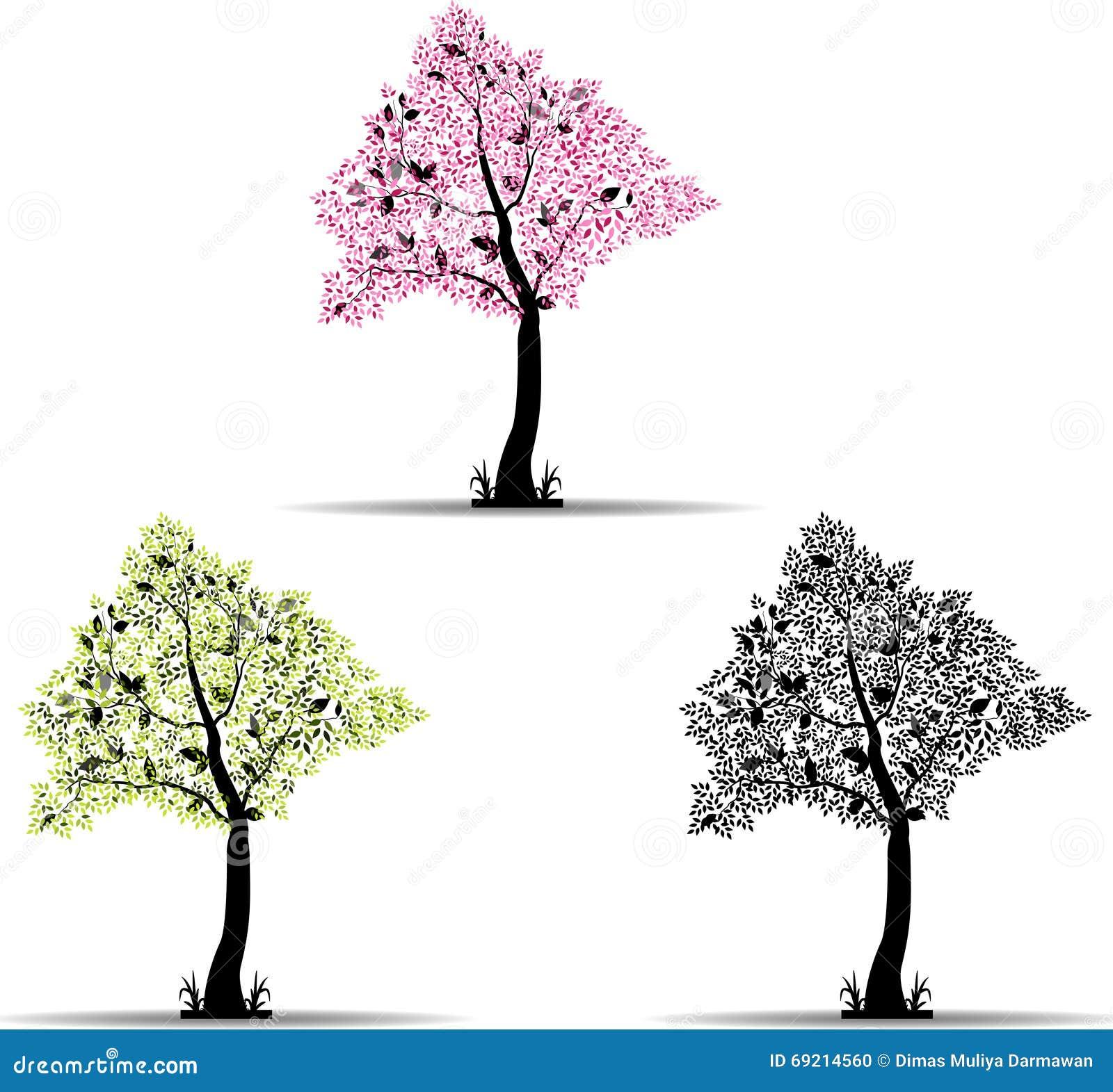 Gestileerde boom voor u ontwerp stock illustratie afbeelding 69214560 - Boom ontwerp ...