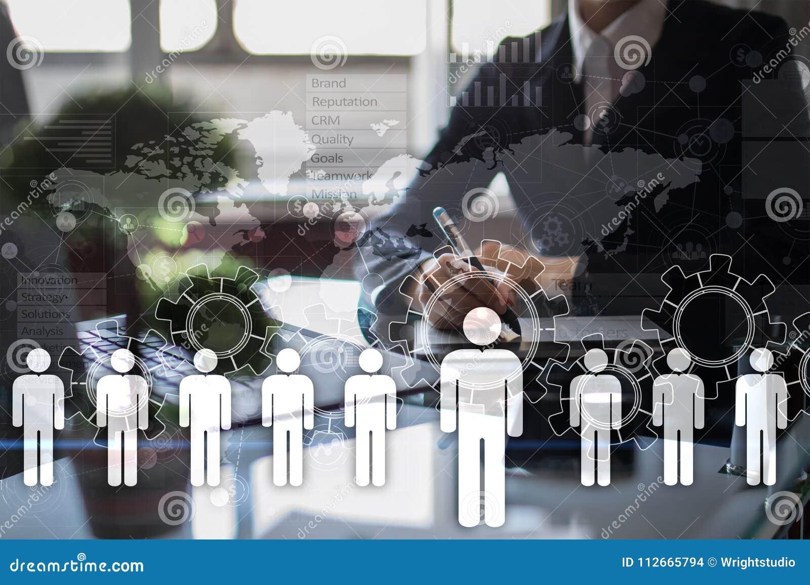 Gestion de ressource humaine, heure, recrutement, direction et teambuilding Concept d affaires et de technologie