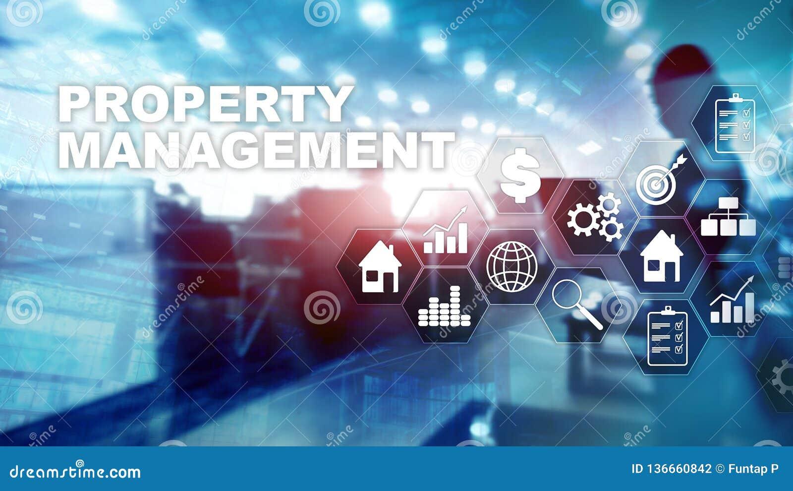 Gestione della proprietà Concetto di affari, di tecnologia, di Internet e della rete Priorità bassa vaga estratto