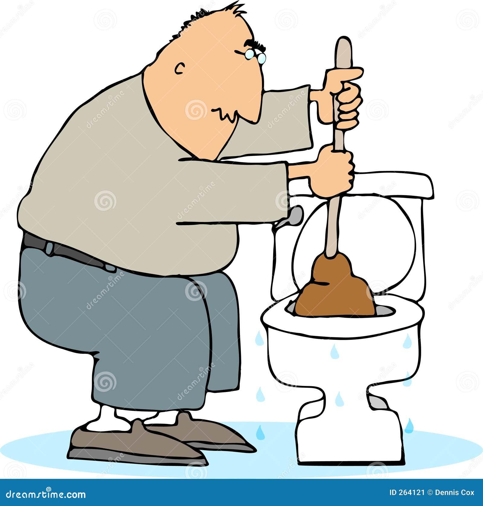 Gestopt toilet