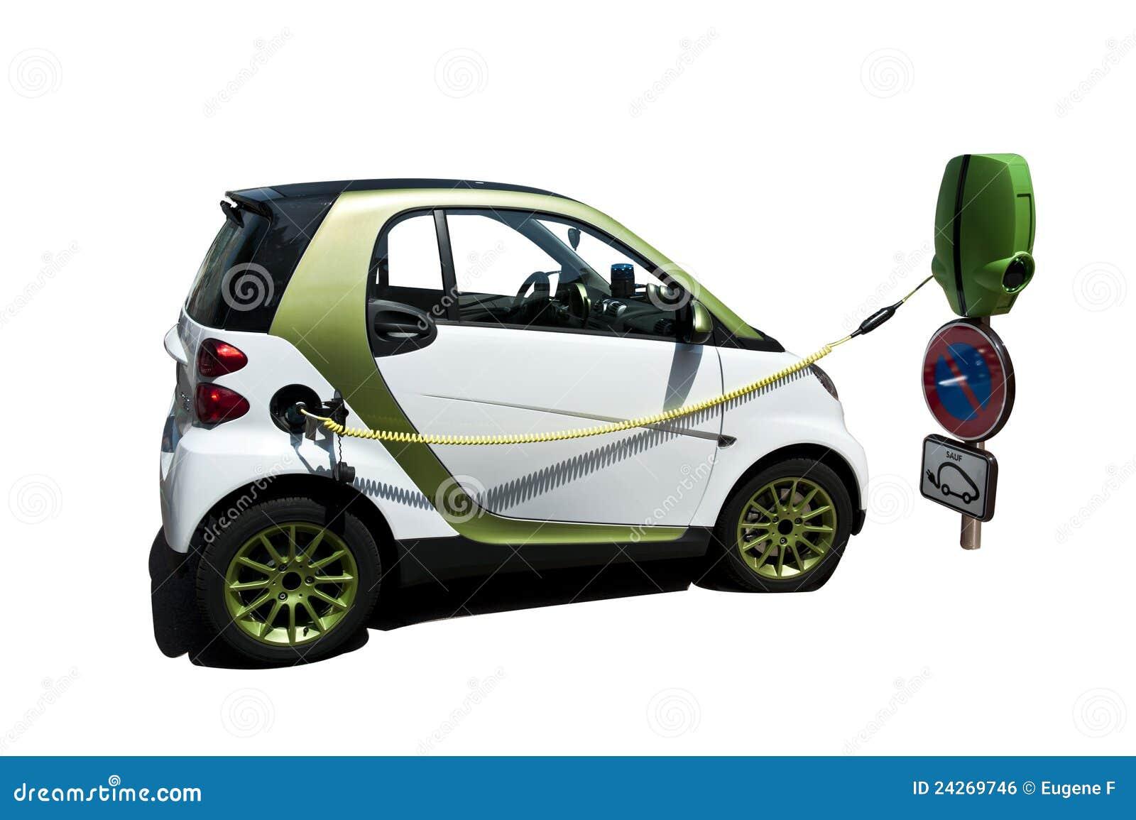 Gestopte Elektrische Auto Stock Foto Afbeelding Bestaande Uit