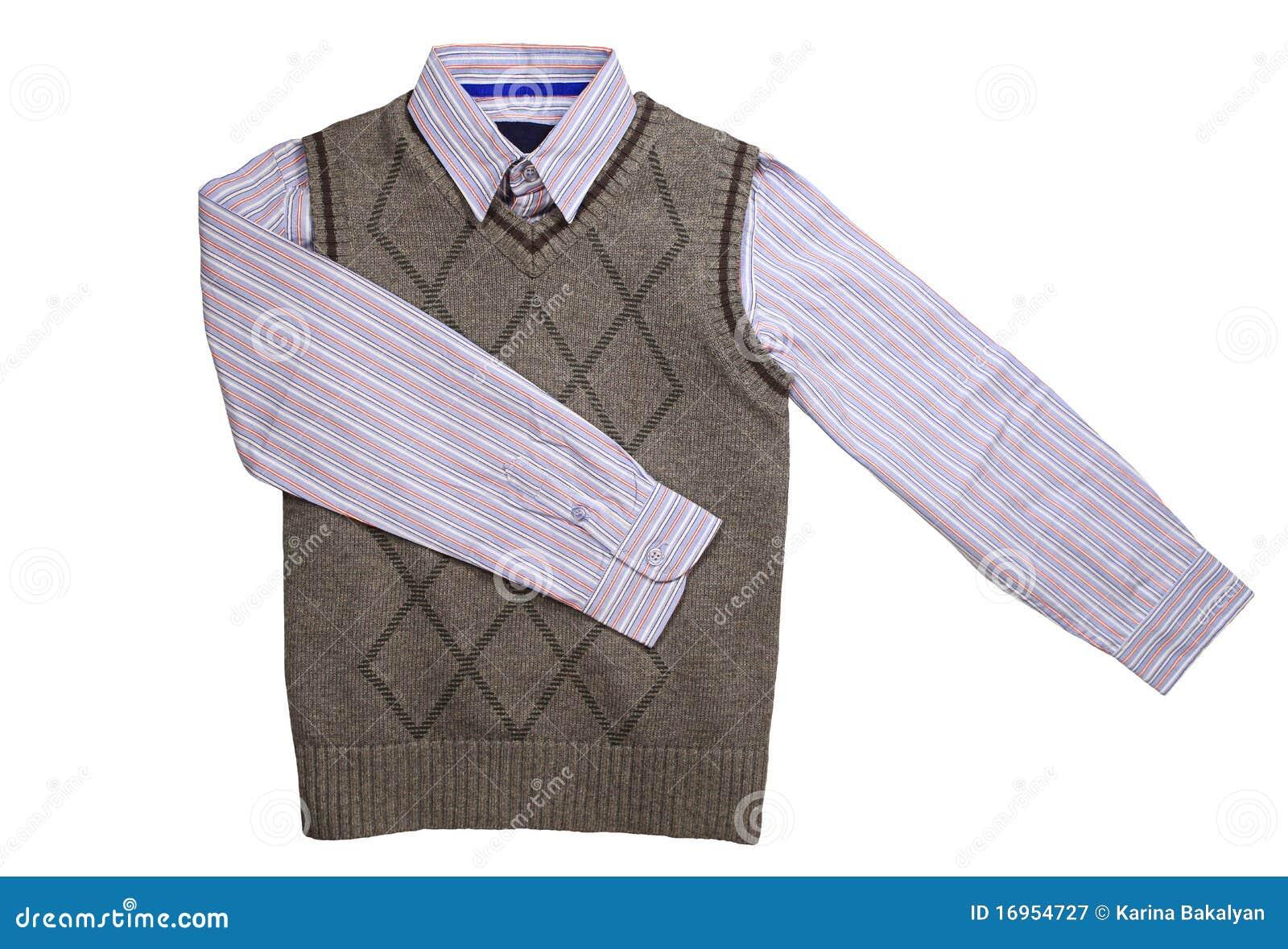 Gestreept overhemd en vest
