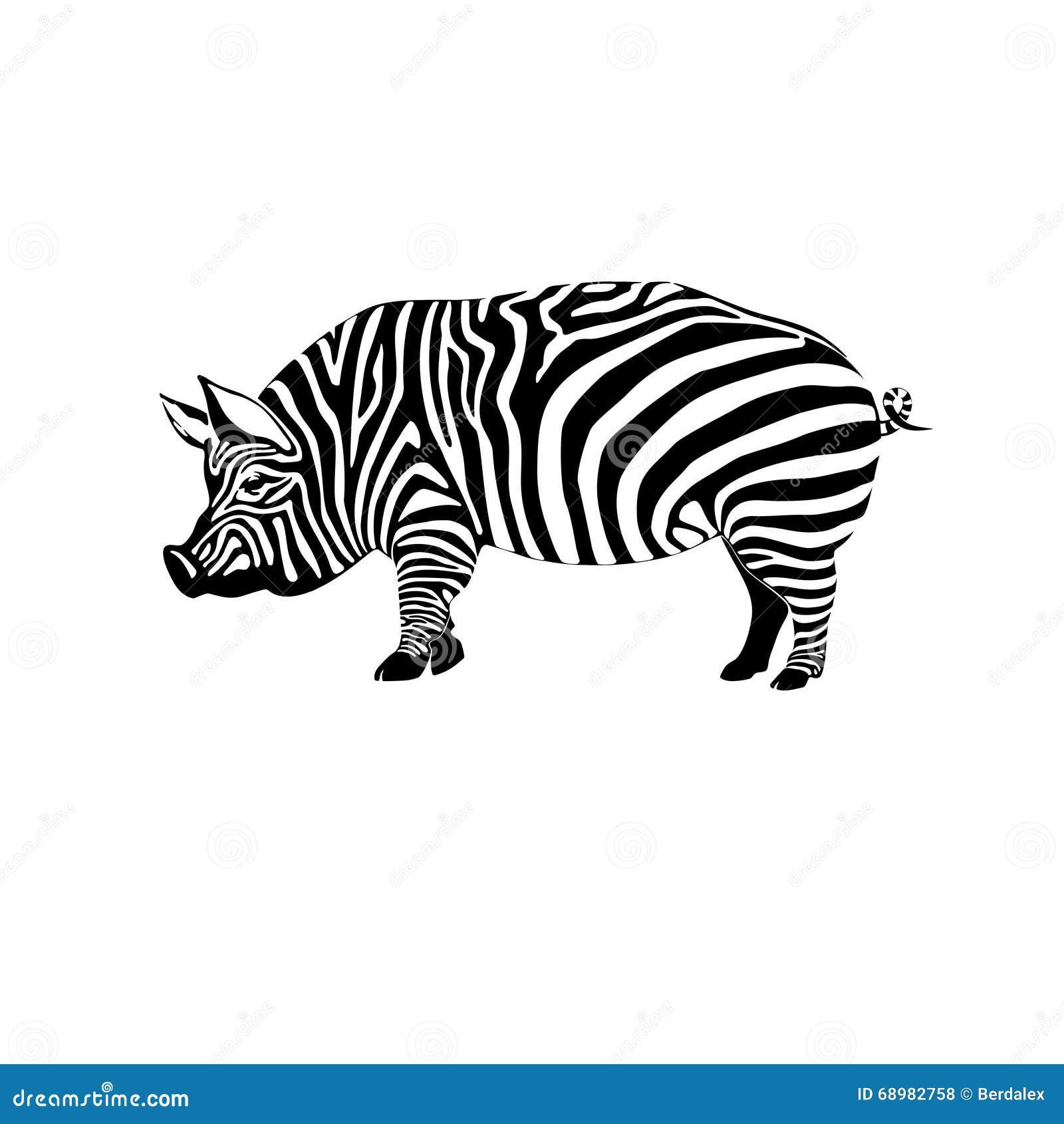Gestreiftes Schwein