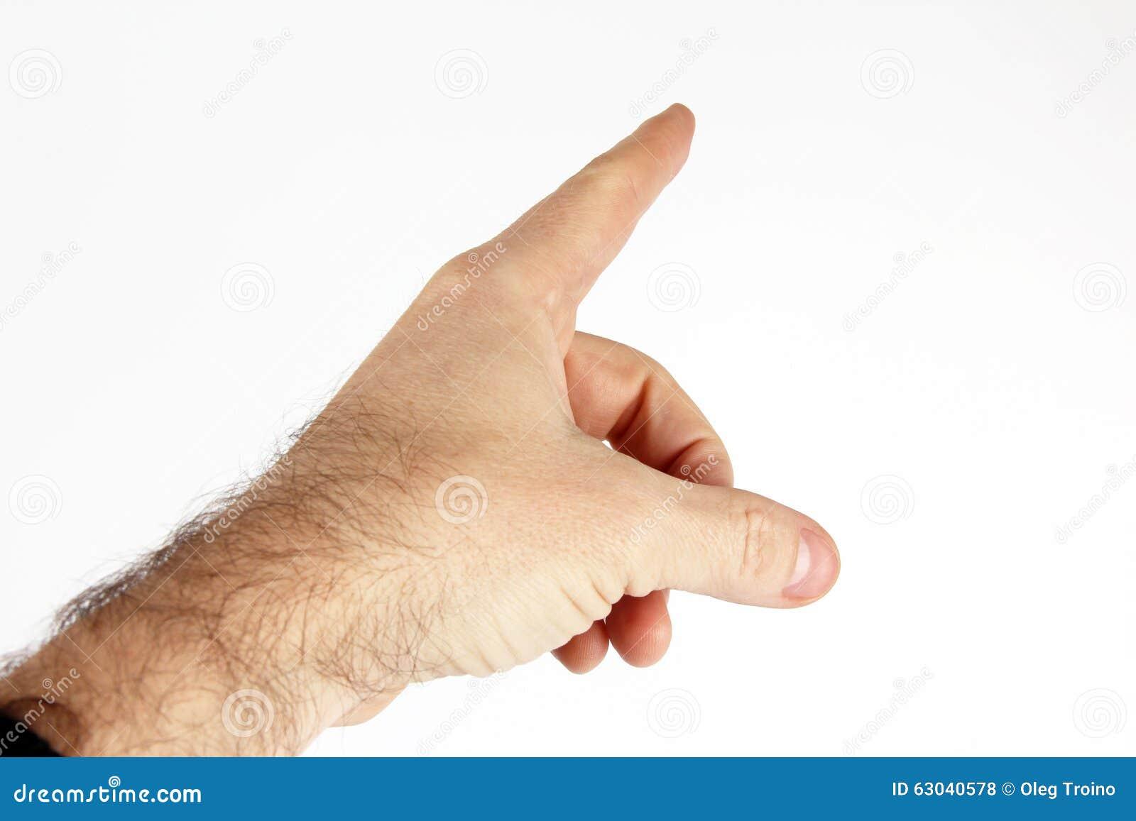 Gesture con il dito indice della mano su un fondo leggero