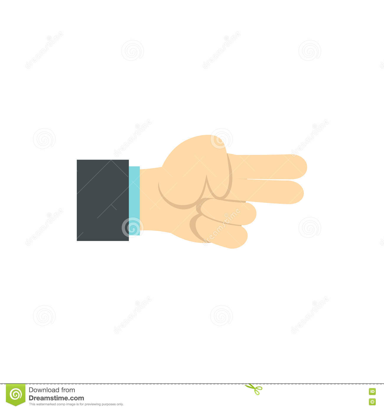 Gesture index and middle finger together icon stock vector gesture index and middle finger together icon buycottarizona