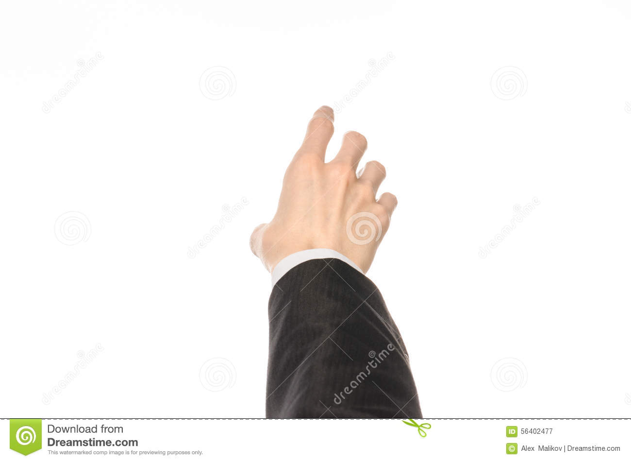 Gestures And Business Theme: Businessman Shows Hand ...